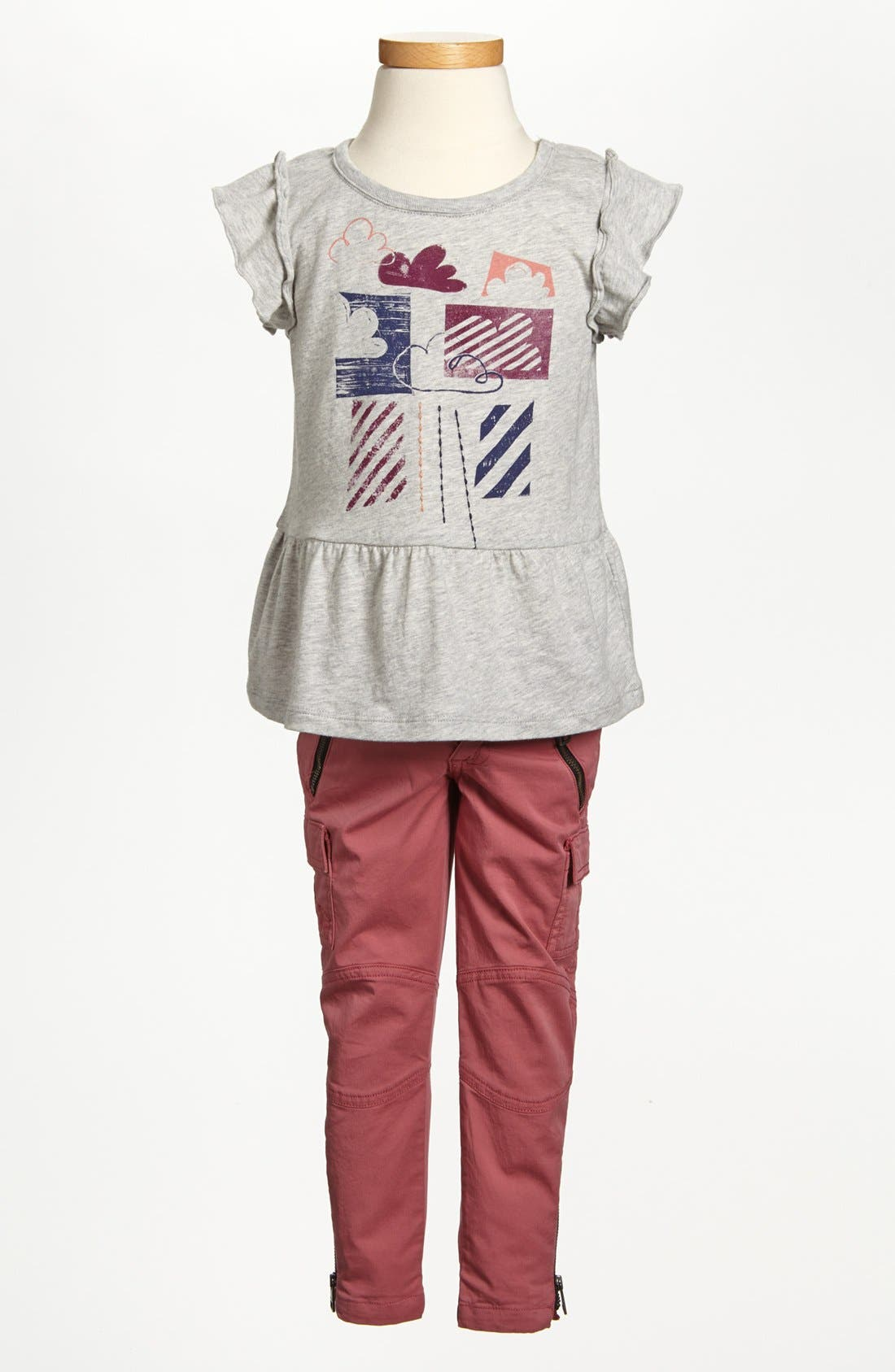 Alternate Image 2  - Burberry 'Cloudy' Peplum Ruffle Top (Toddler Girls, Little Girls & Big Girls)