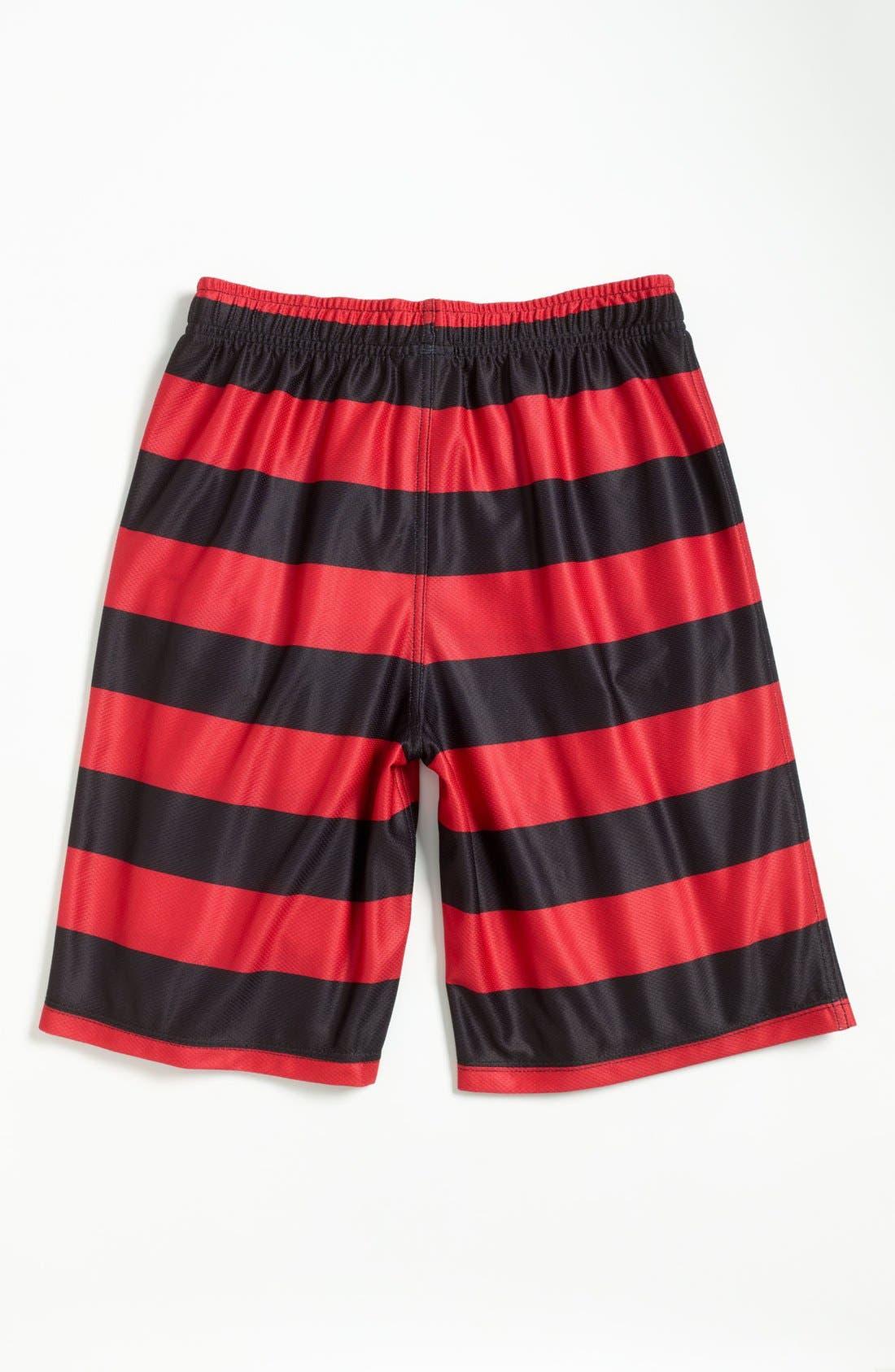 Alternate Image 2  - Quiksilver Stripe Beach Shorts (Little Boys)