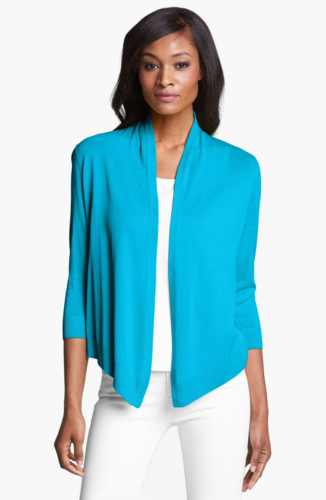 Alternate Image 1 Selected - Chaus Open Front Cardigan