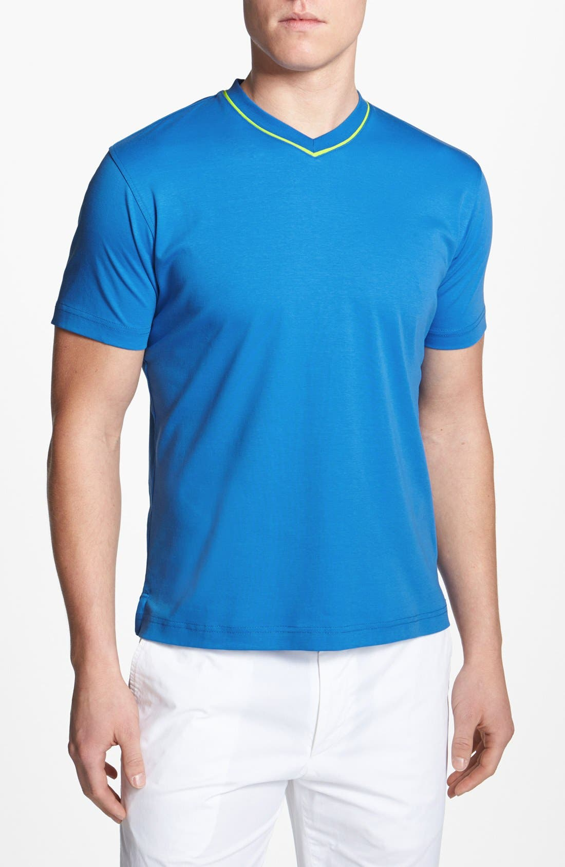Alternate Image 1 Selected - Robert Graham 'Nevis' V-Neck T-Shirt
