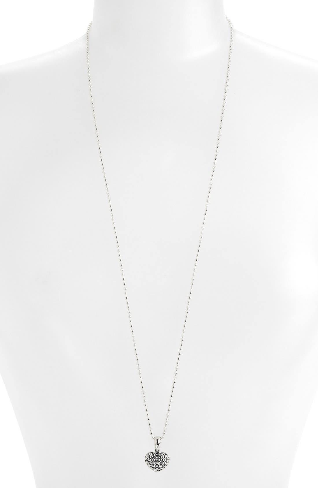 Alternate Image 2  - LAGOS Sterling Silver Heart Long Strand Pendant Necklace