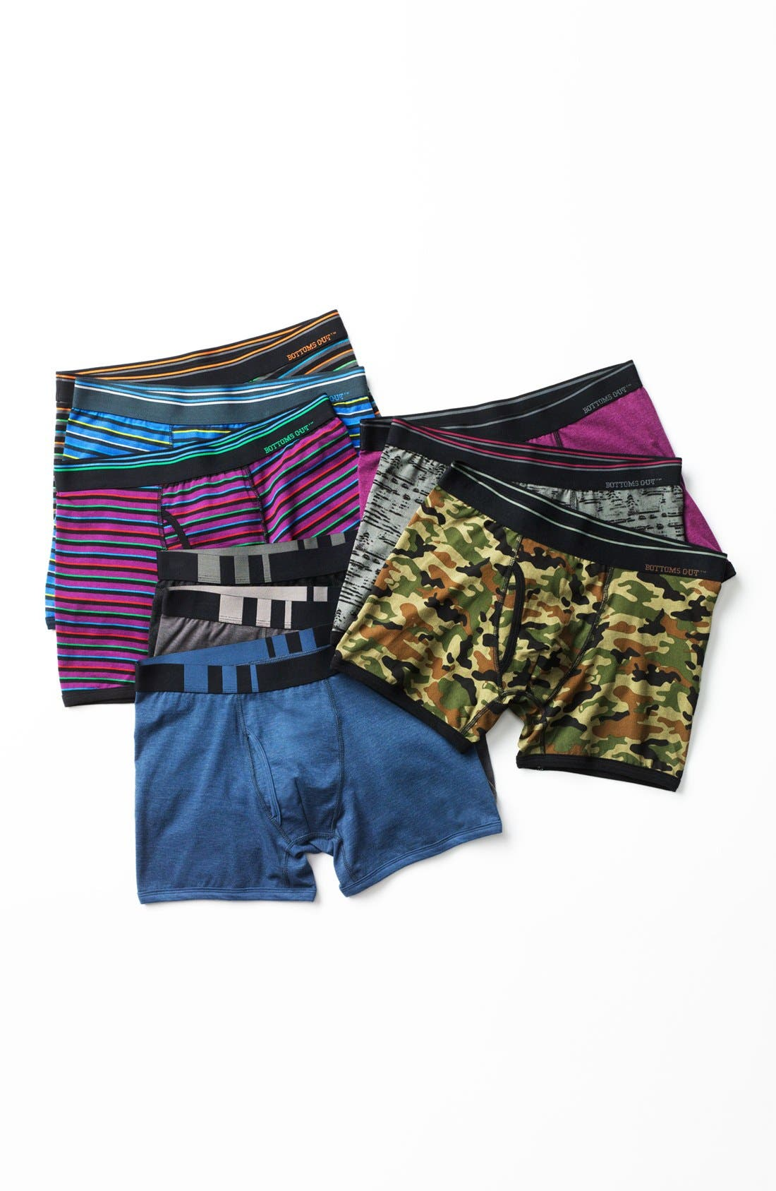 Alternate Image 6  - Basic Underwear 'Bottoms Out' Boxer Briefs (3-Pack)