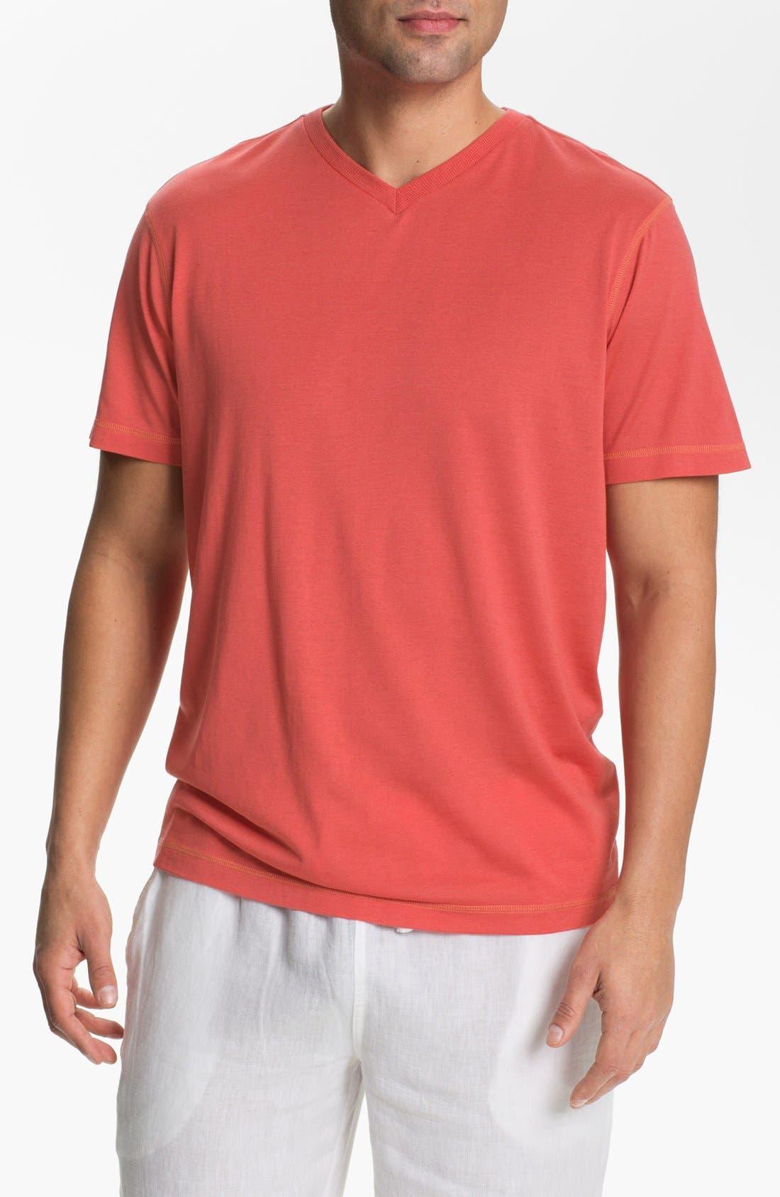 Alternate Image 1 Selected - Daniel Buchler V-Neck Silk Blend T-Shirt