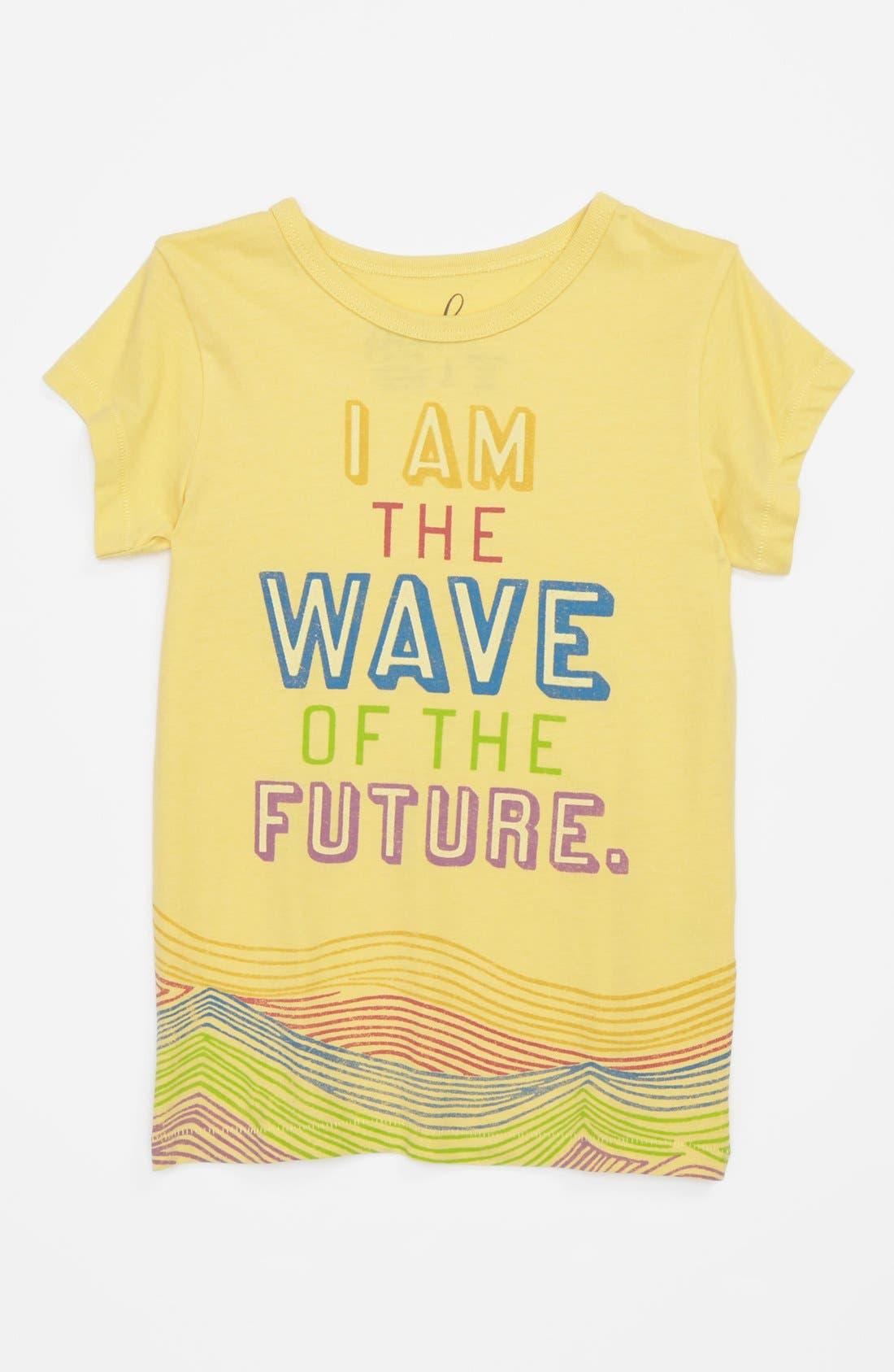 Alternate Image 1 Selected - Peek 'Wave' Tee (Toddler Girls, Little Girls & Big Girls)