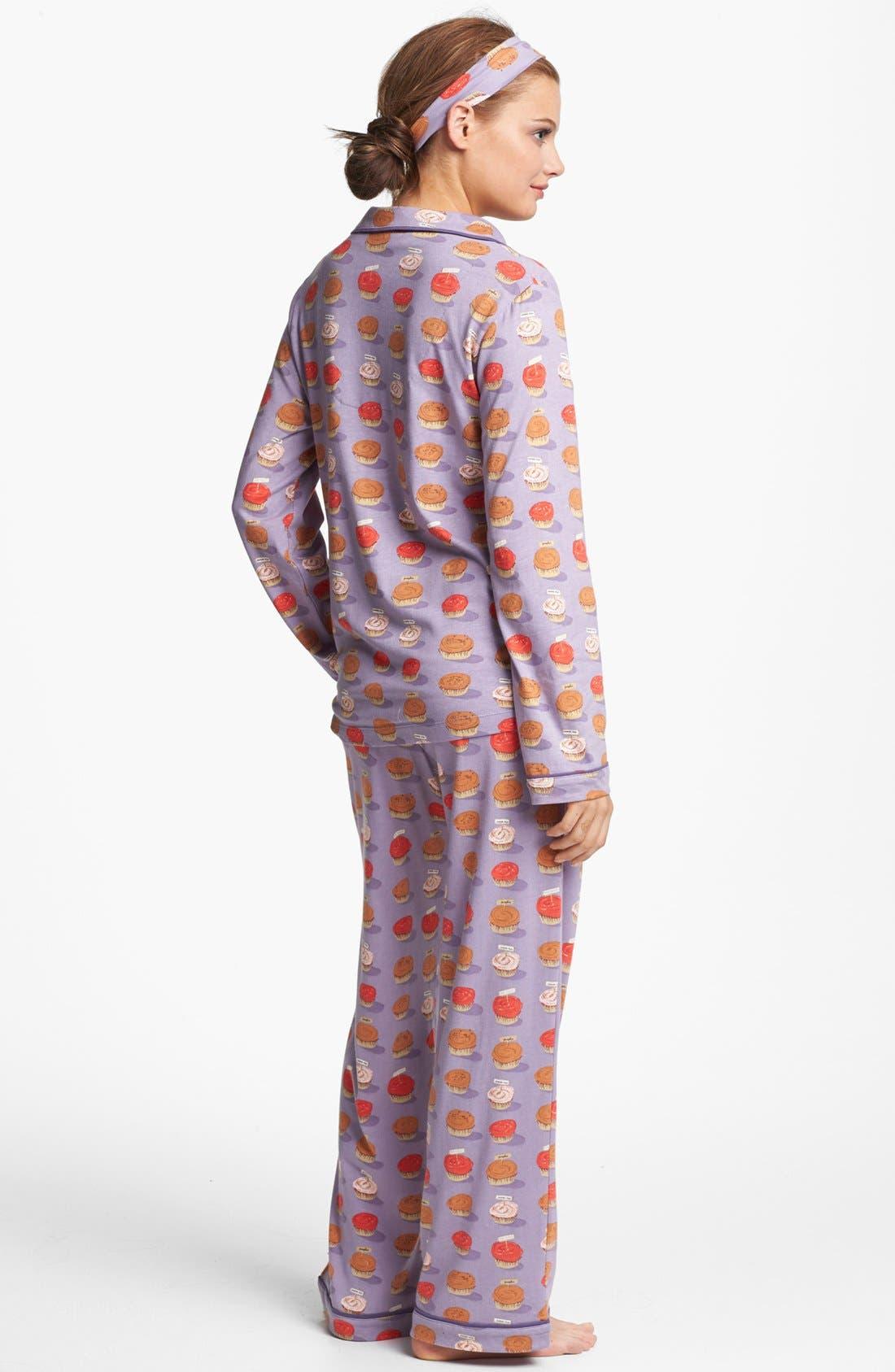 Alternate Image 2  - Munki Munki Print Pajamas