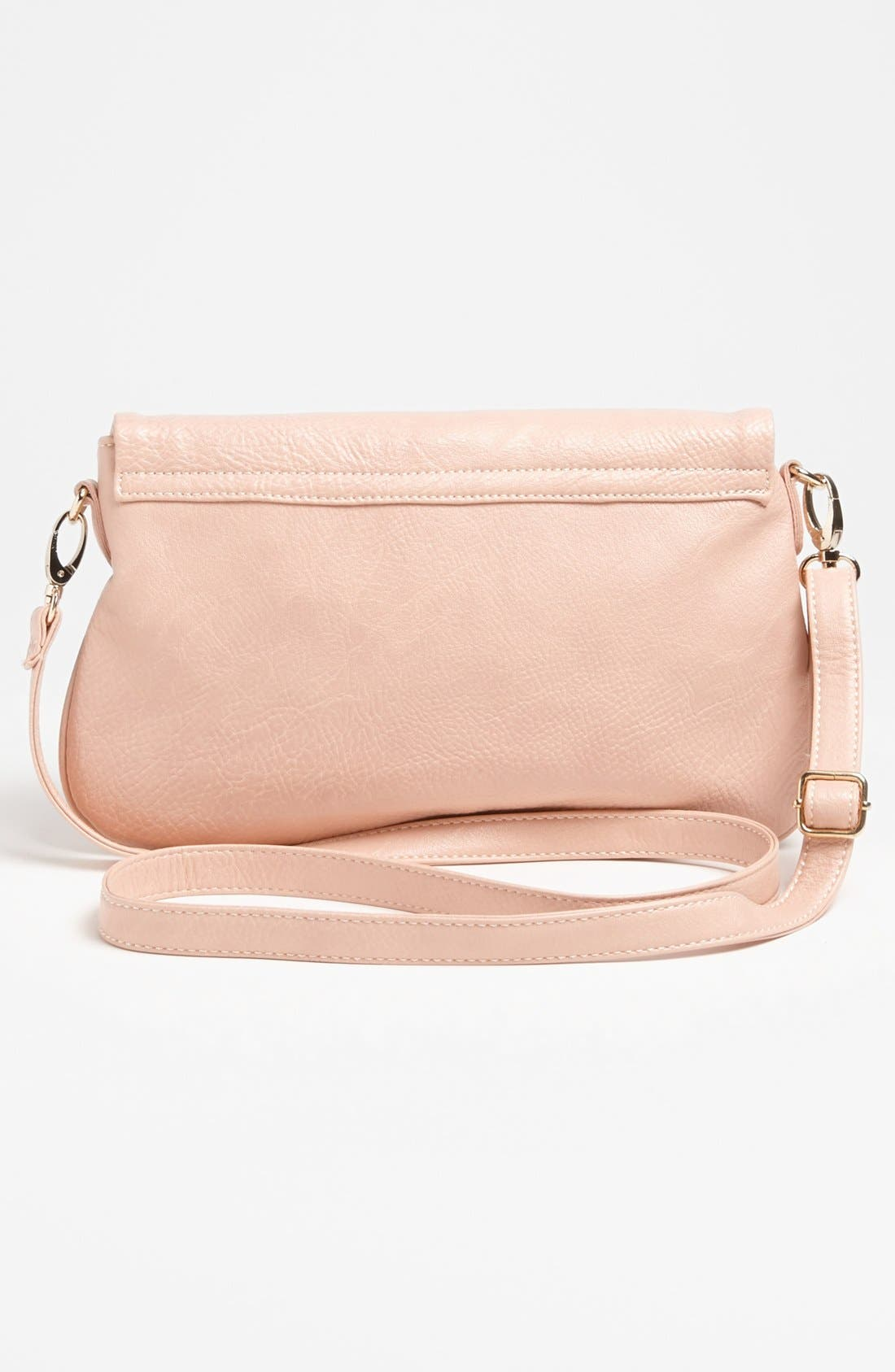 Alternate Image 4  - Street Level Double Zip Faux Leather Crossbody Bag
