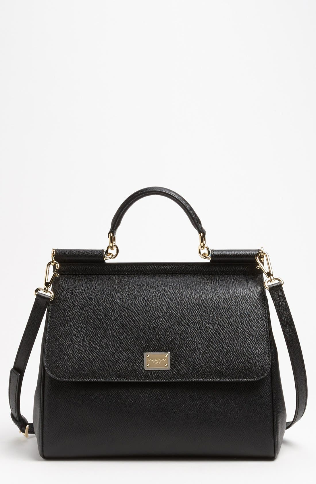 Alternate Image 1 Selected - Dolce&Gabbana 'Miss Sicily' Top Handle Leather Satchel