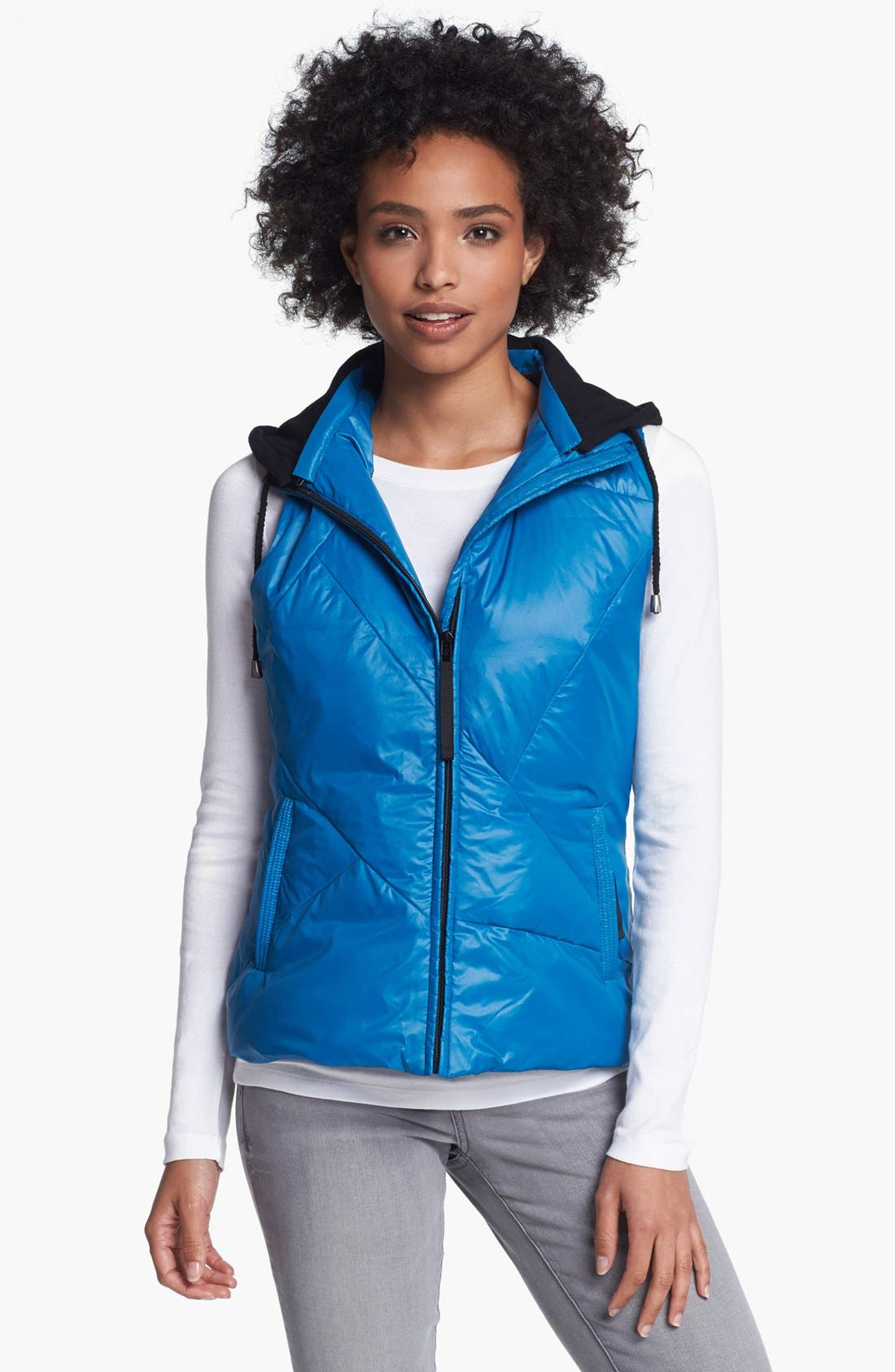 Alternate Image 2  - Metro Packable Down Vest with Detachable Hood