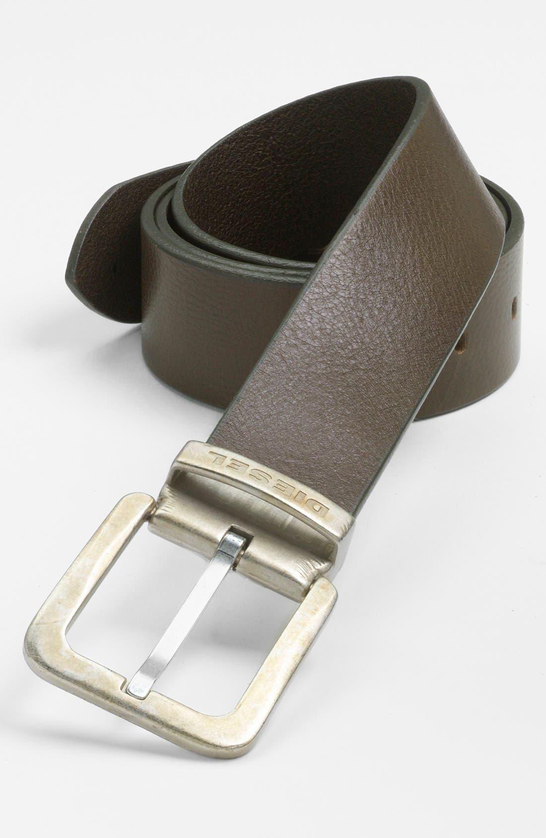Alternate Image 1 Selected - DIESEL® 'Begles' Leather Belt