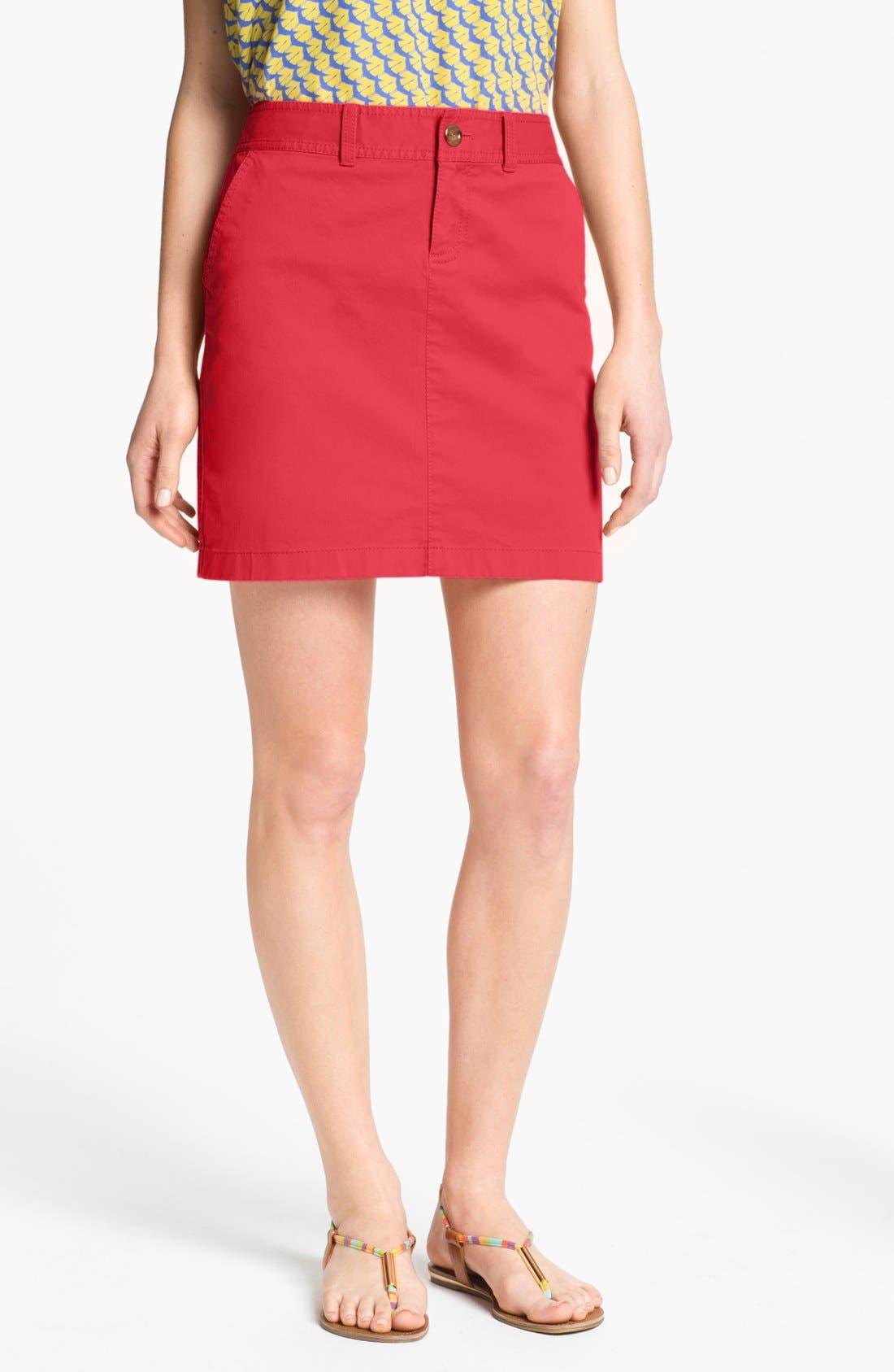 Alternate Image 1 Selected - Caslon® Twill Skirt