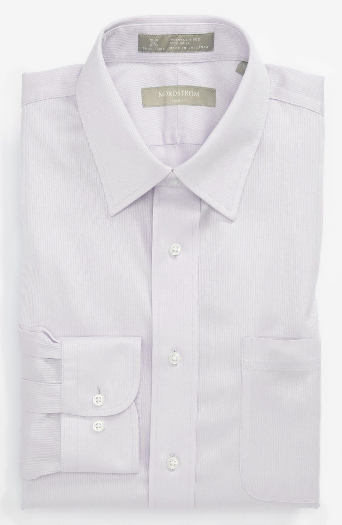 Main Image - Nordstrom Smartcare™ Wrinkle Free Trim Fit Stripe Dress Shirt