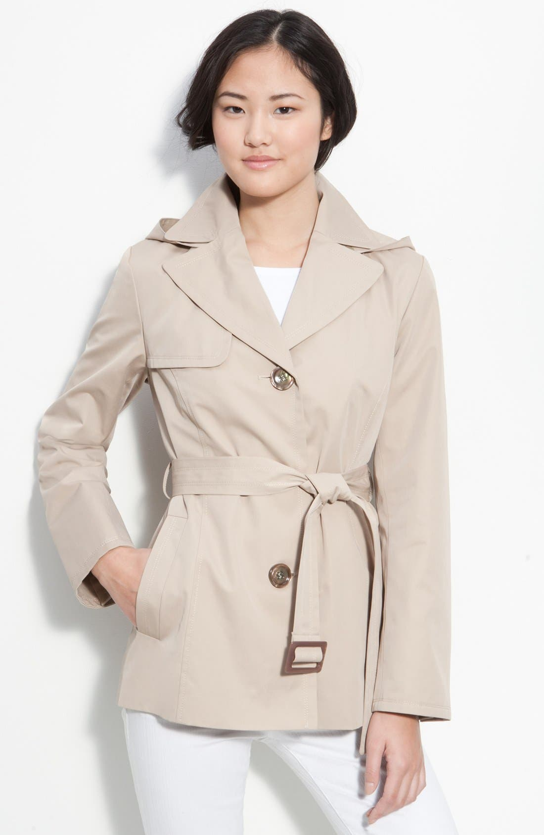 Alternate Image 1 Selected - Ellen Tracy Single Breasted Trench Coat (Nordstrom Exclusive)