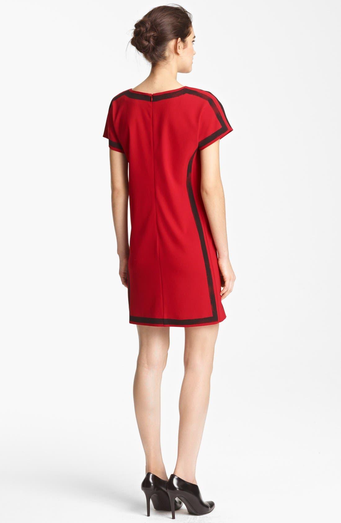 Alternate Image 2  - Moschino Cheap & Chic Brushstroke Print Crepe Dress