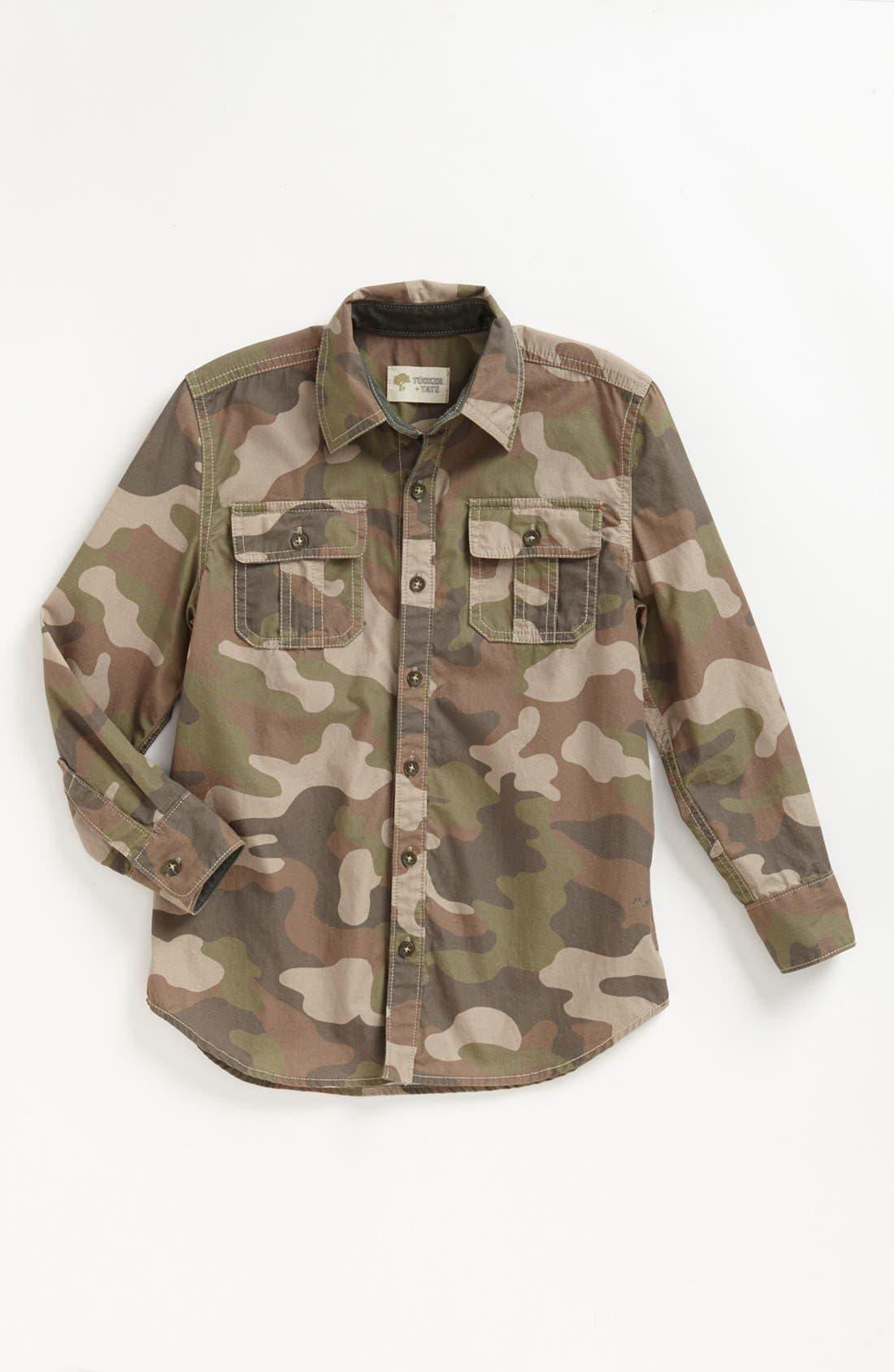 Alternate Image 1 Selected - Tucker + Tate 'Bluewater' Camo Sport Shirt (Little Boy)