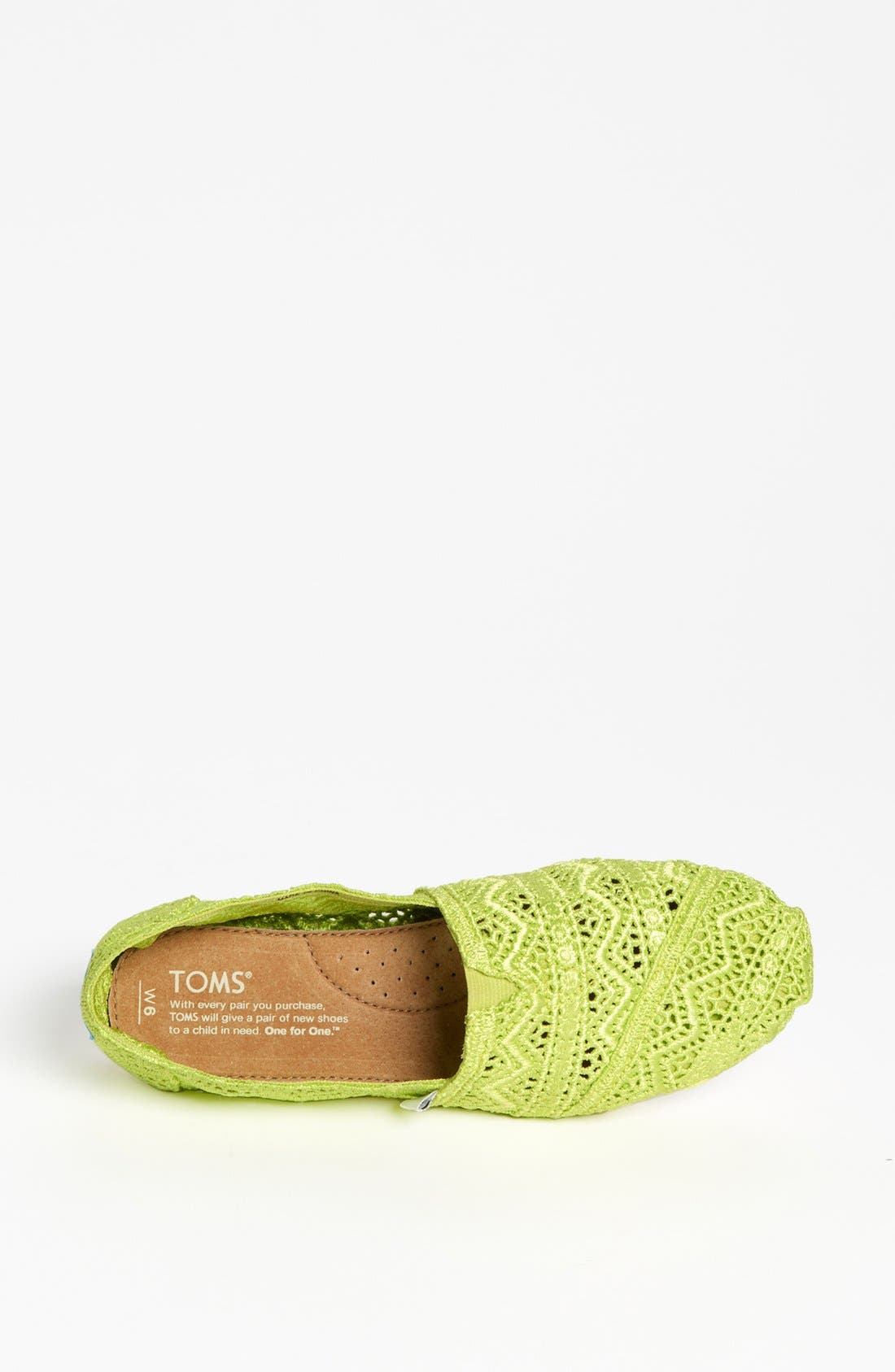 Alternate Image 3  - TOMS 'Classic - Neon' Crochet Slip-On (Women)