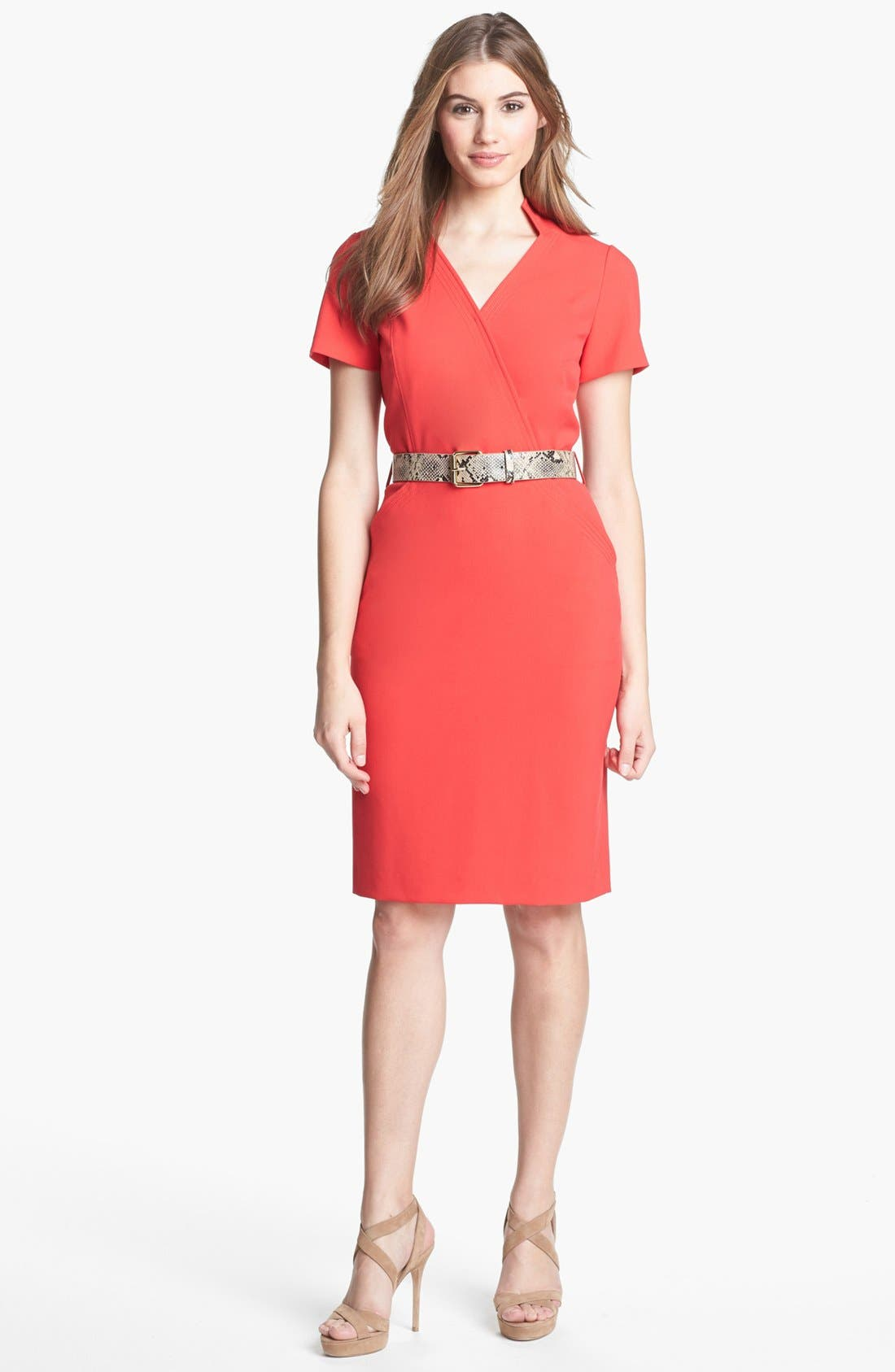Alternate Image 1 Selected - Tahari Belted Sheath Dress