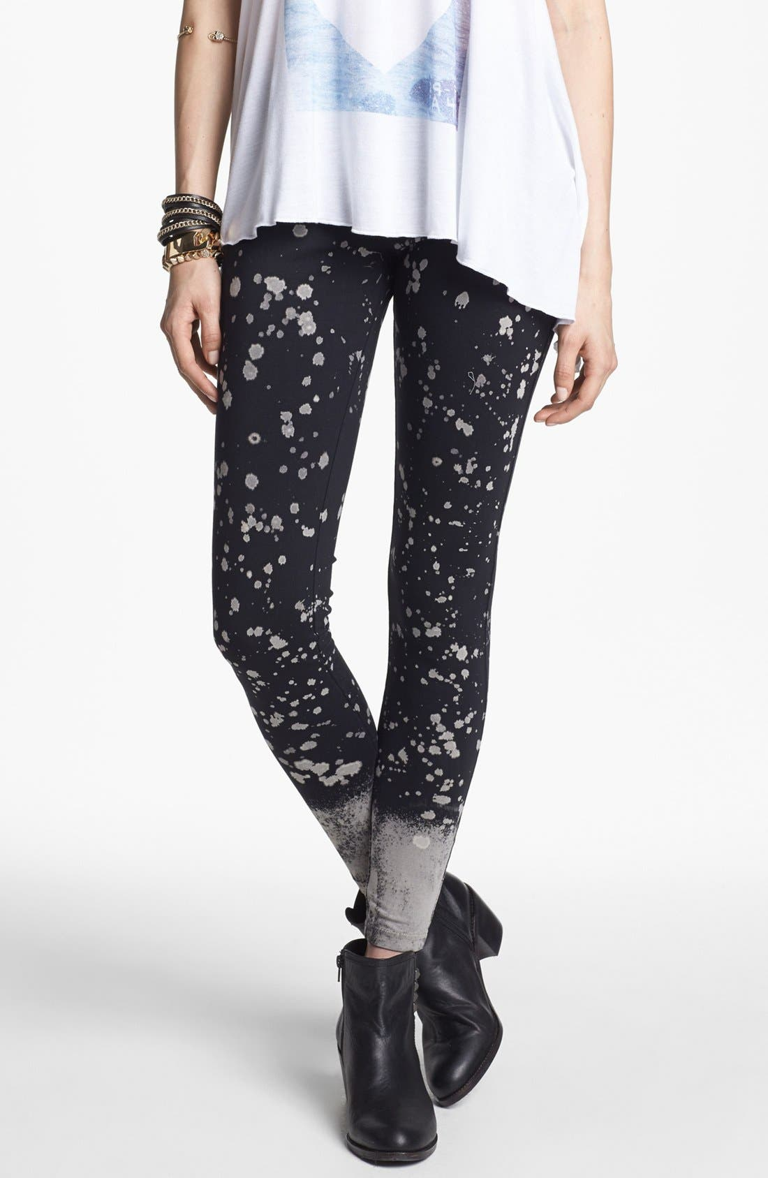 Main Image - BP. Splatter Leggings (Juniors)