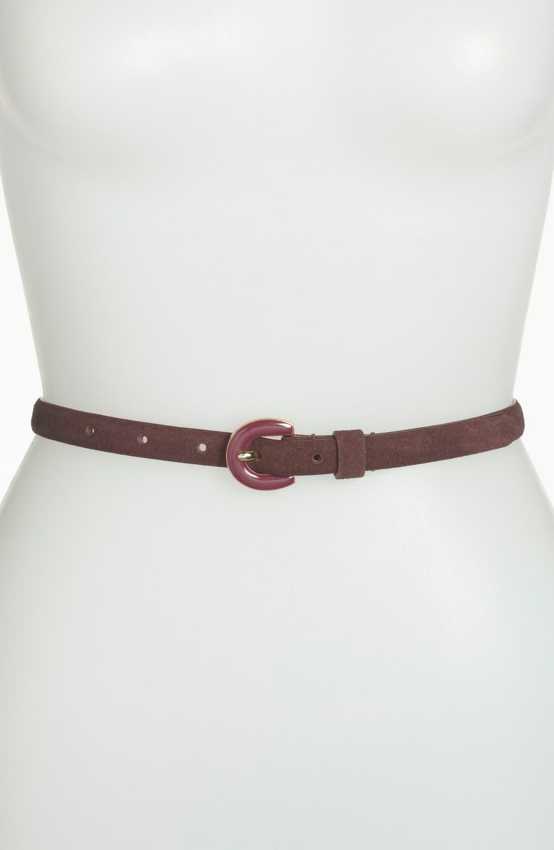 Alternate Image 1 Selected - Halogen® Suede Belt