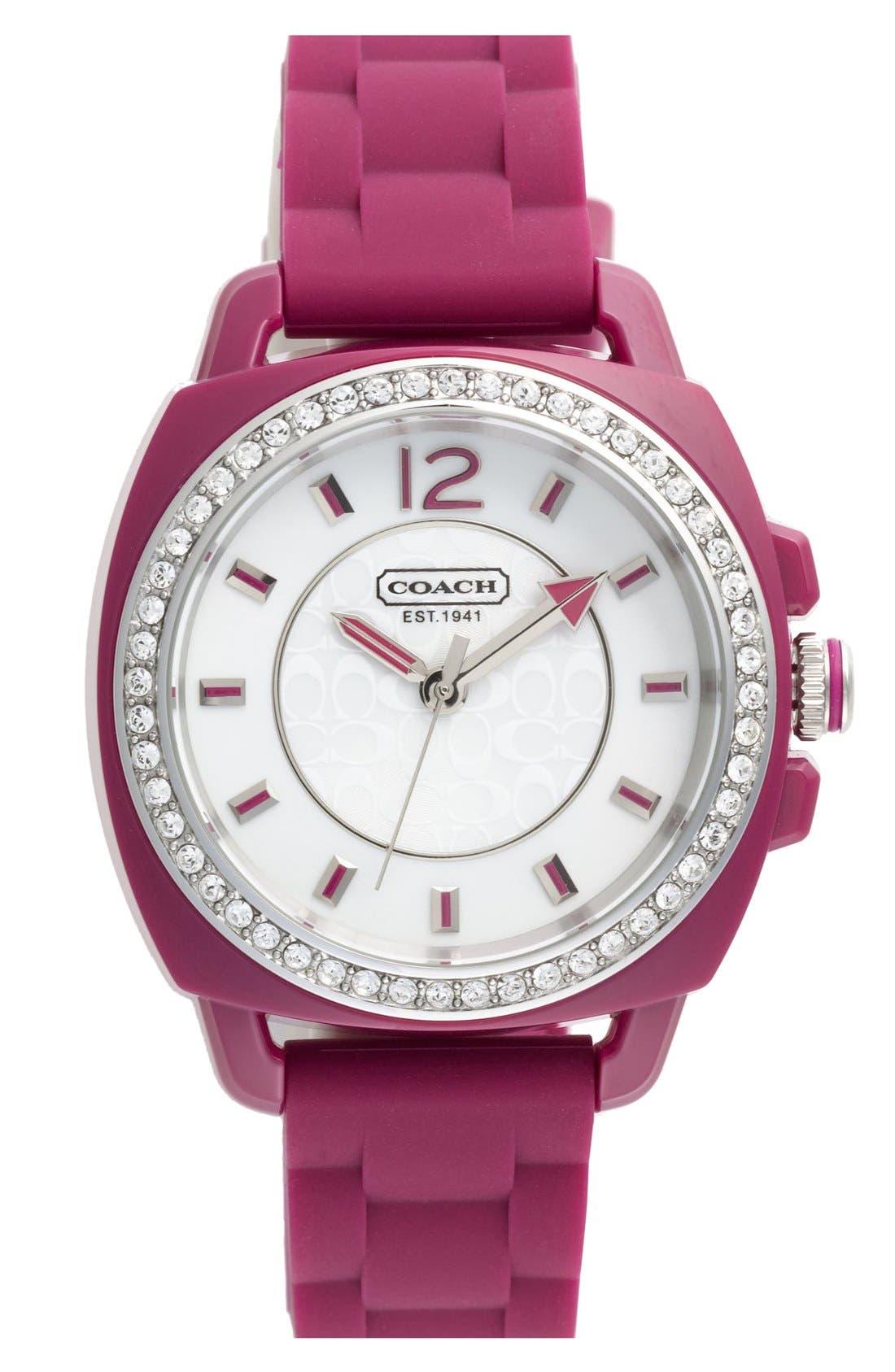 Main Image - COACH 'Boyfriend' Crystal Bezel Watch, 39mm