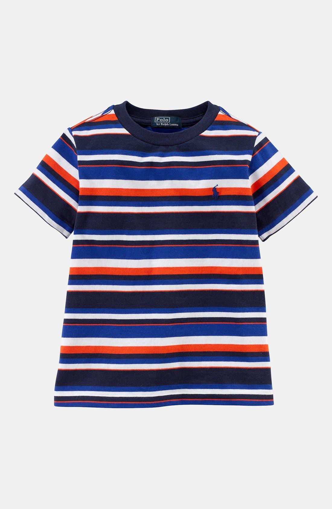 Main Image - Ralph Lauren Stripe T-Shirt (Toddler Boys)