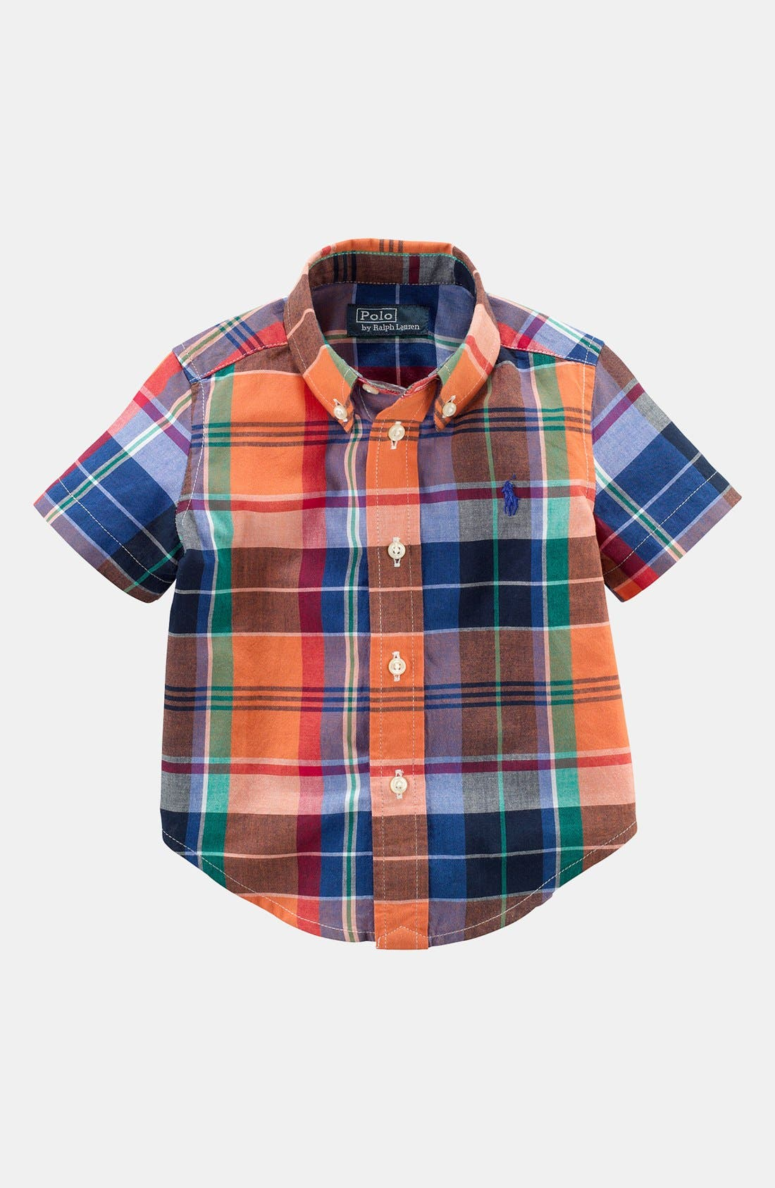 Alternate Image 1 Selected - Ralph Lauren Madras Shirt (Baby Boys)