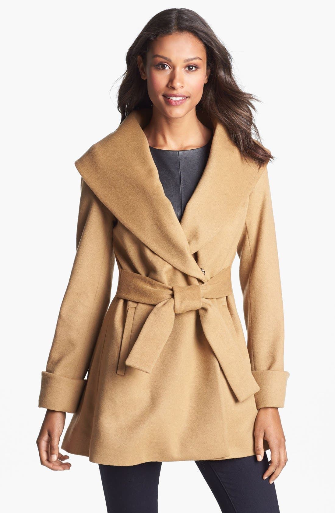 Women's Wool Wrap Coat with Detachable Belt and Oversized Collar. from $ 72 84 Prime. out of 5 stars T Tahari. Women's Marla Wool Coat with Oversized Collar New Name: Marylin. from $ 97 Prime. out of 5 stars WLLW. Women Open Front Plaid Cardigan Drape Coat Wool Blends Coat Outerwear Wrap.