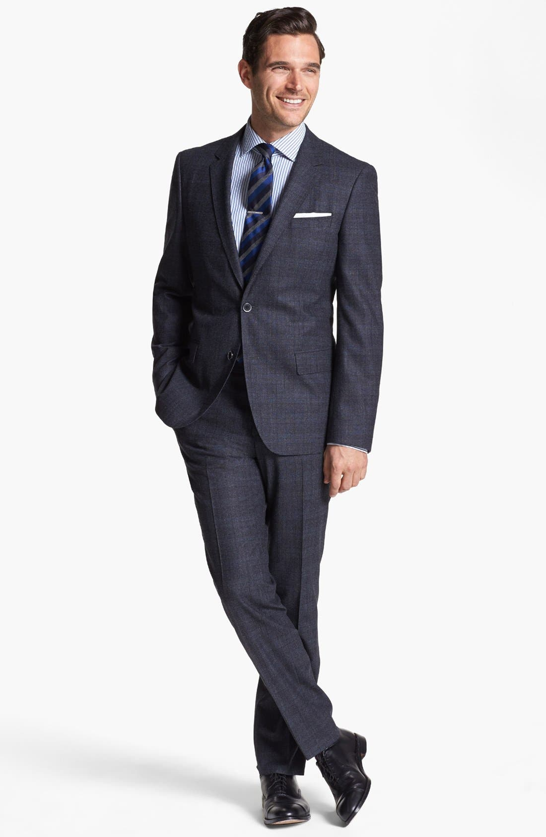 Alternate Image 1 Selected - BOSS HUGO BOSS 'Hedge/Gense' Trim Fit Plaid Suit