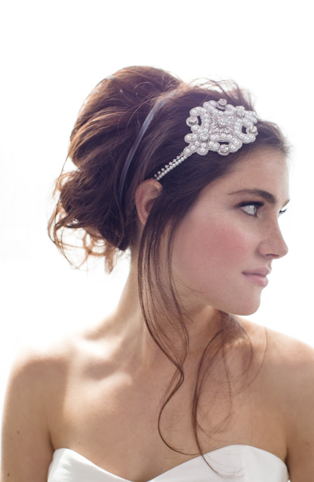 Alternate Image 3  - Cara Pearl & Crystal Head Wrap