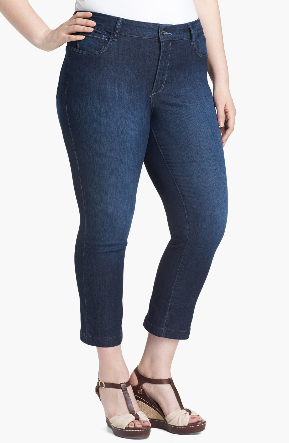 Alternate Image 1 Selected - NYDJ 'Audrey' Skinny Ankle Jeans (Plus Size)