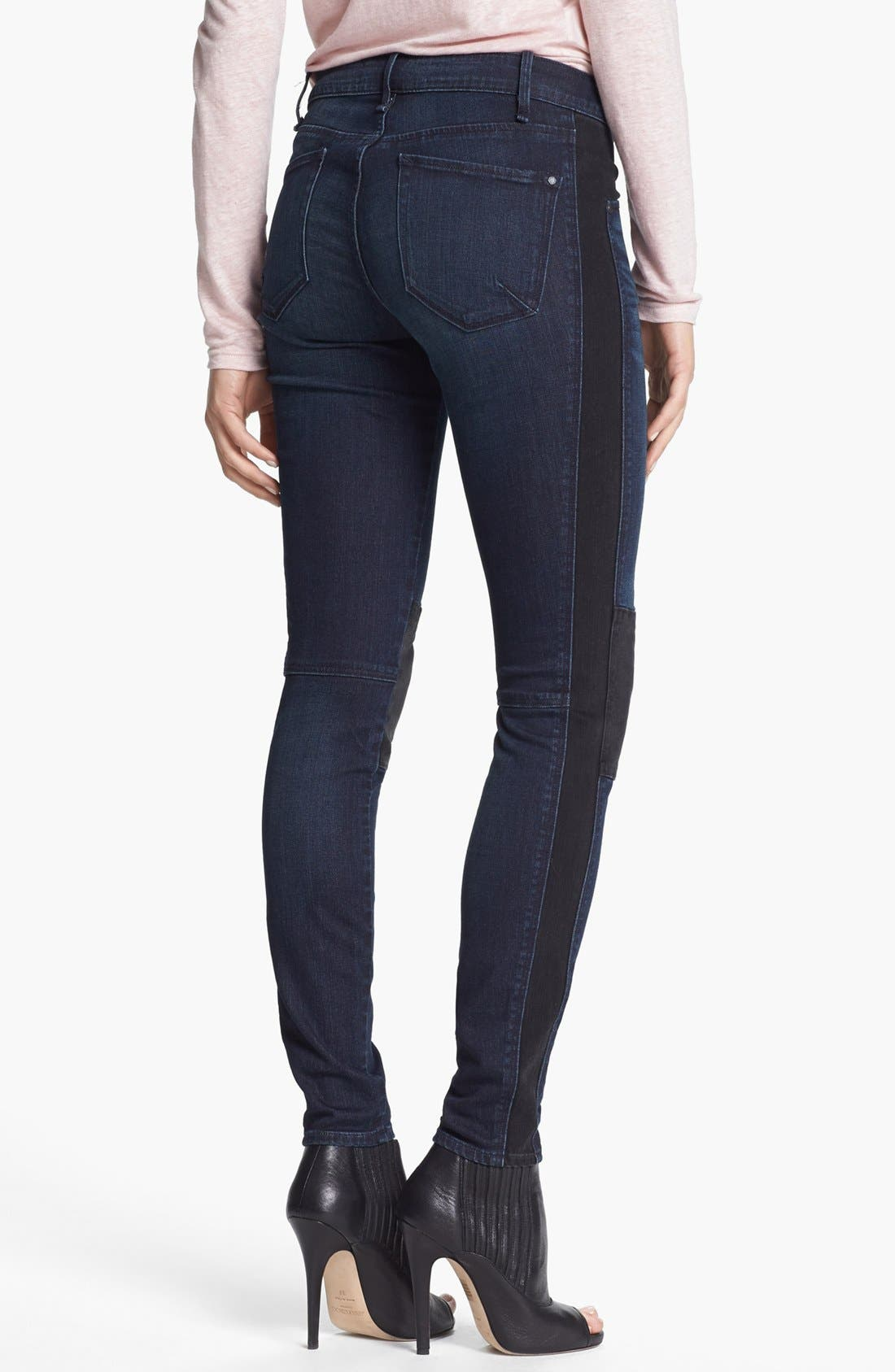 Alternate Image 2  - MARC BY MARC JACOBS Seamed Mixed Media Skinny Stretch Jeans (Tiia)