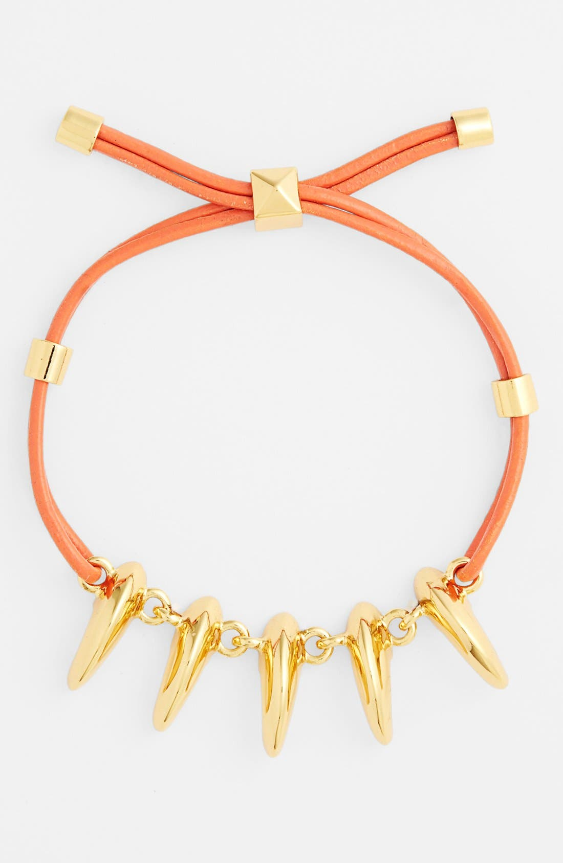 Alternate Image 1 Selected - Vince Camuto 'By the Horns' Leather Bracelet