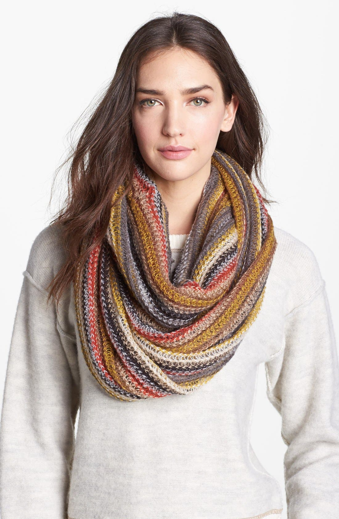 Alternate Image 1 Selected - Echo 'Fuzzy Stripe' Infinity Scarf
