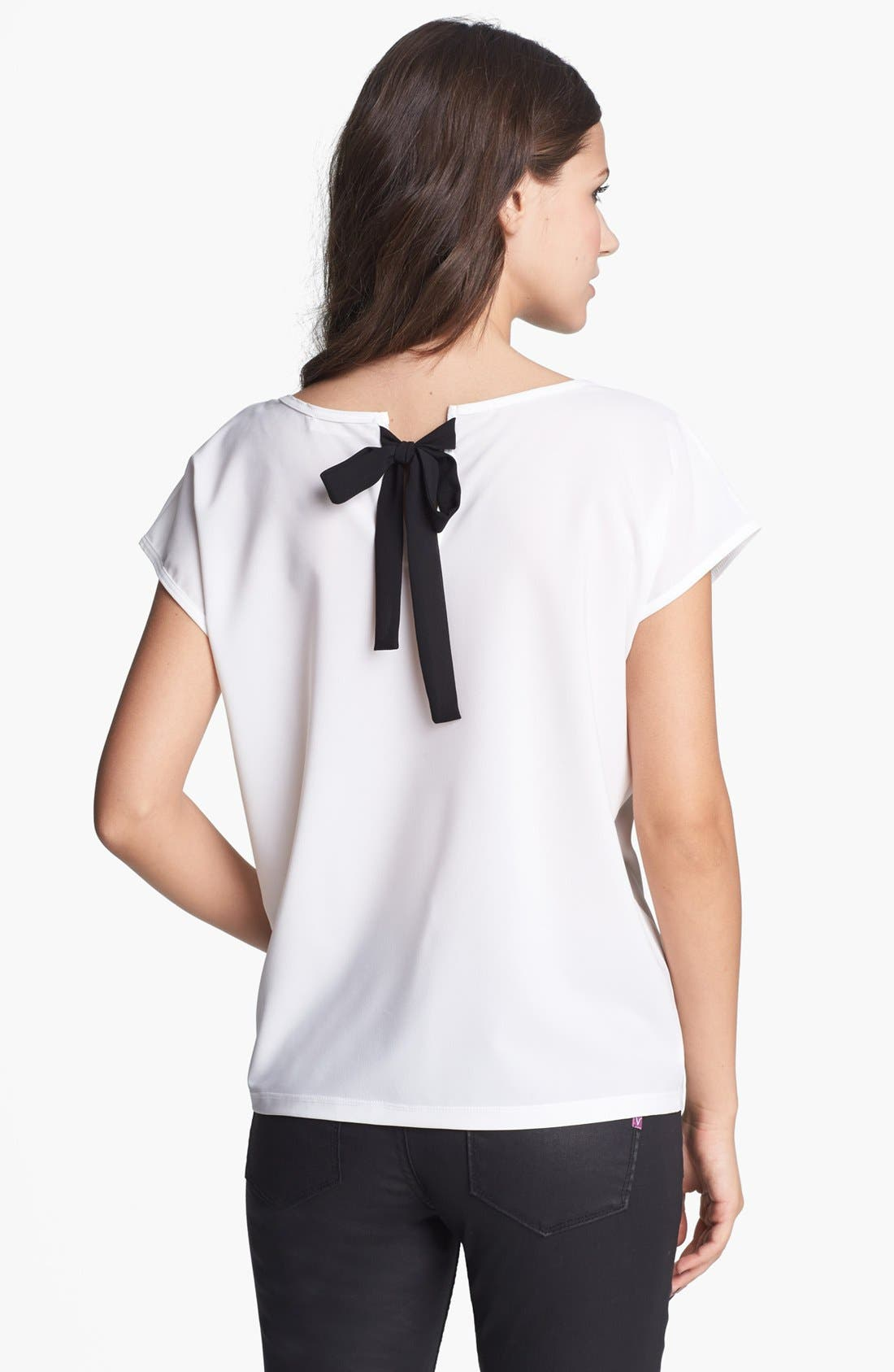 Alternate Image 1 Selected - Elodie Tie Back Tee (Juniors)