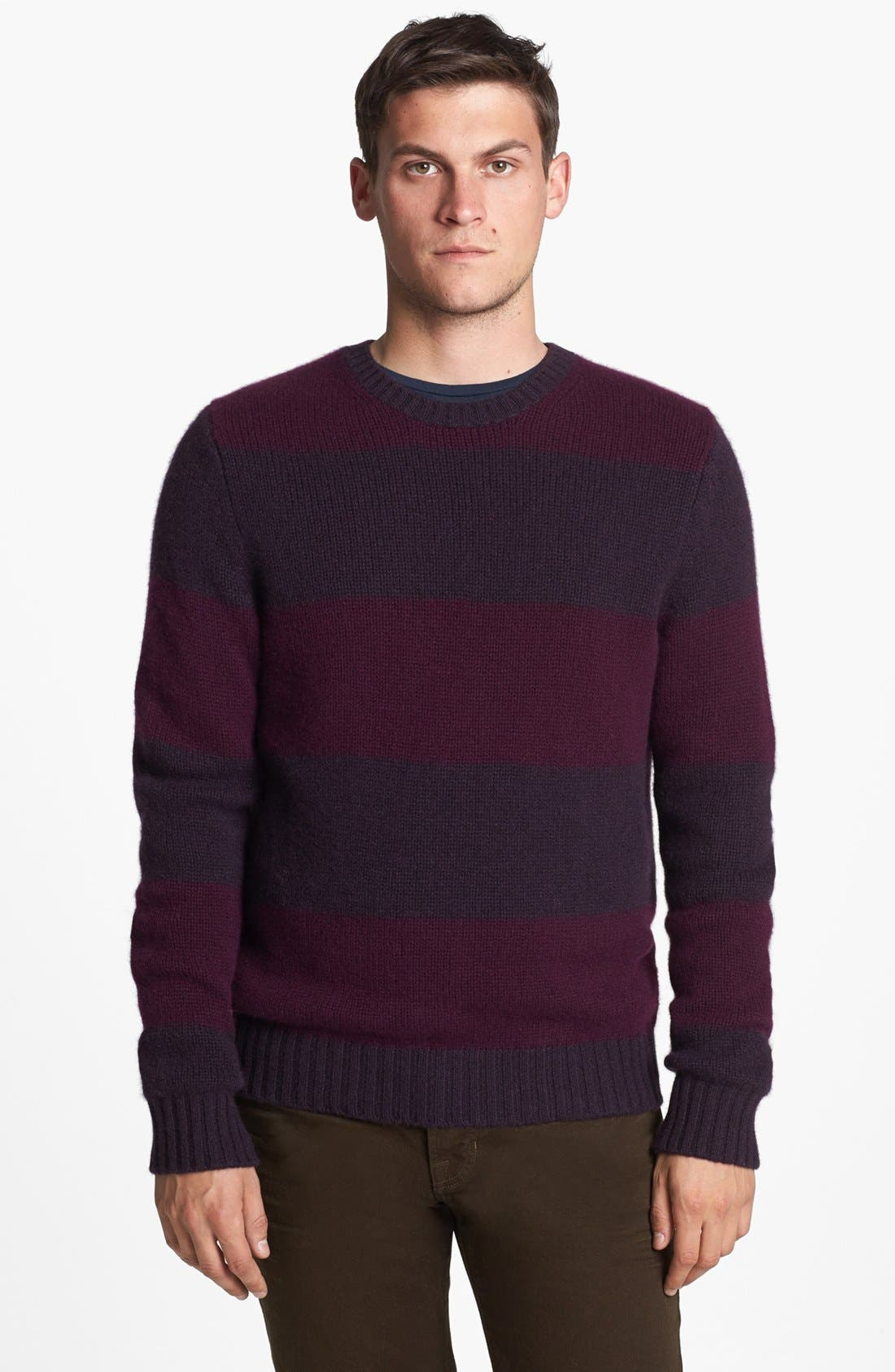 Main Image - Vince 'Rugby' Cashmere Crewneck Sweater