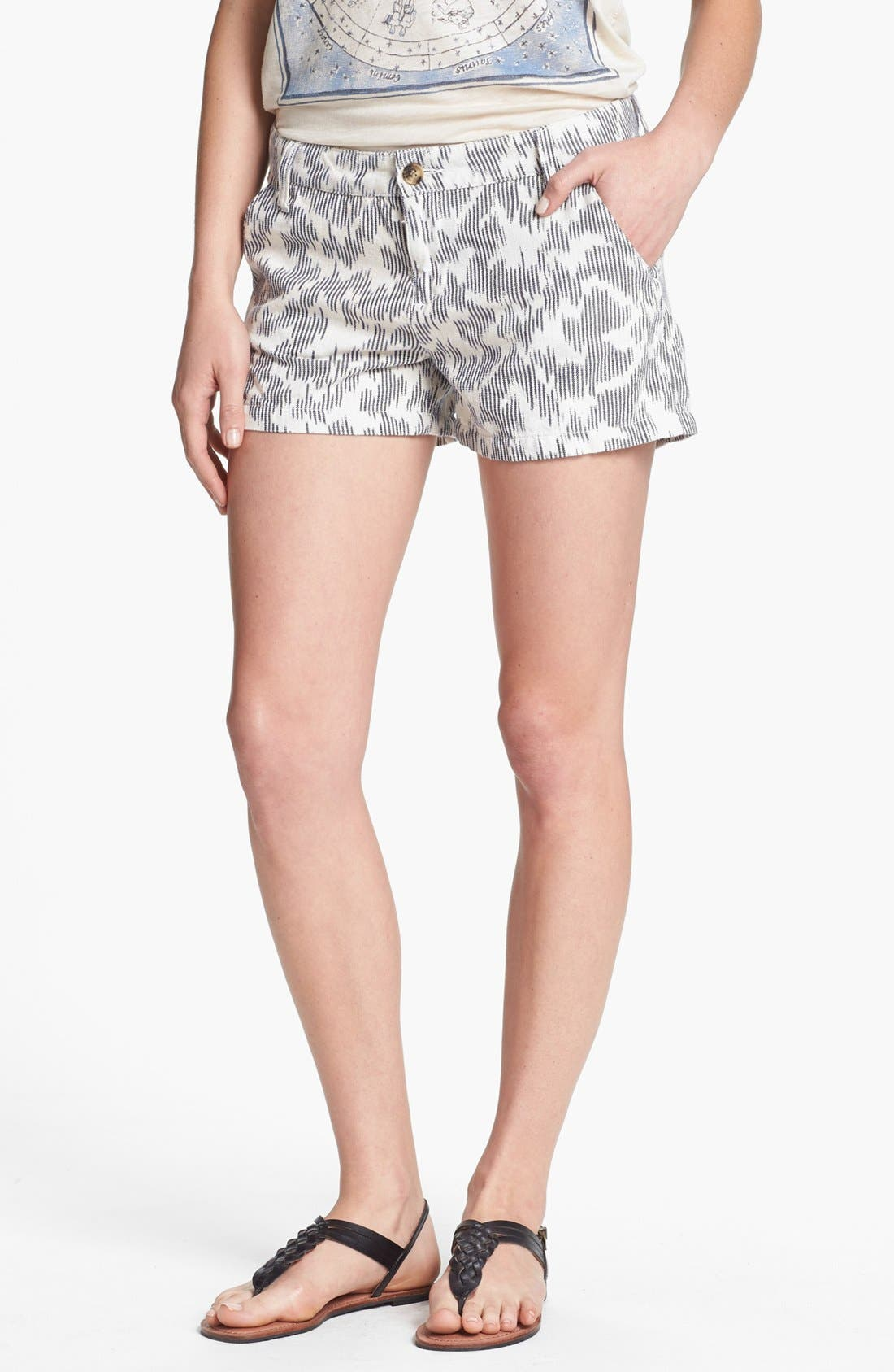 Alternate Image 1 Selected - Lucky Brand 'Leela' Ikat Print Shorts