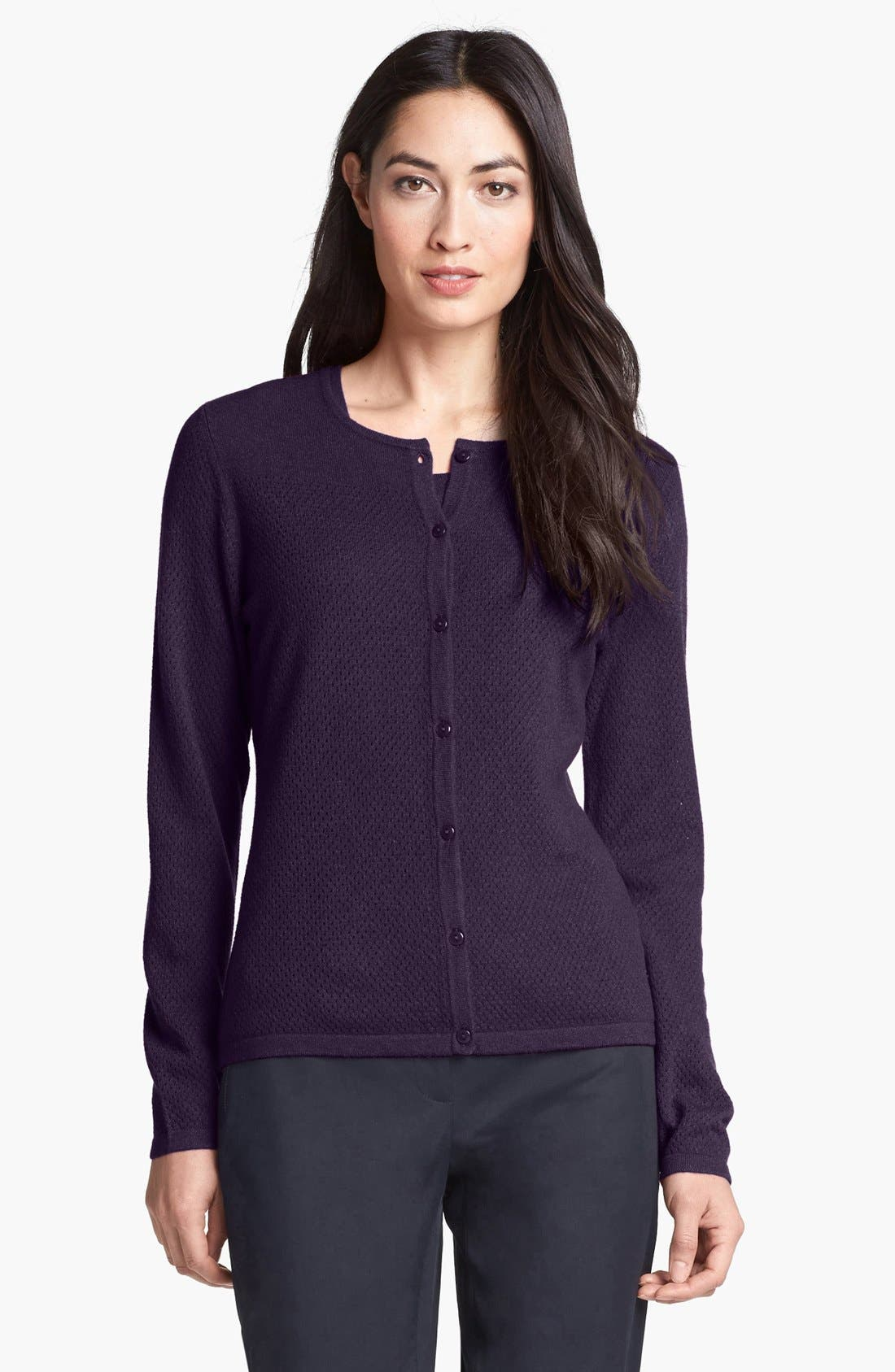Alternate Image 1 Selected - Nordstrom Collection Textured Cashmere Cardigan