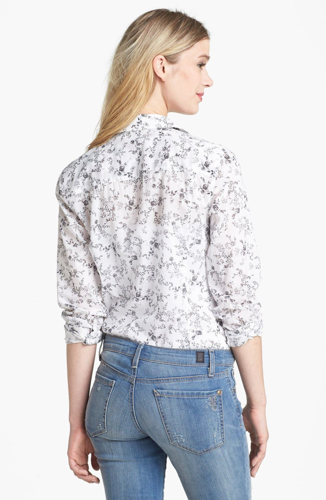 Alternate Image 2  - Caslon® Long Sleeve Shirt (Regular & Petite)