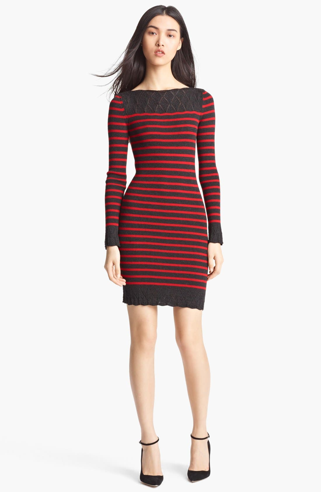 Alternate Image 1 Selected - Jean Paul Gaultier Fuzzi Nautical Stripe Knit Dress
