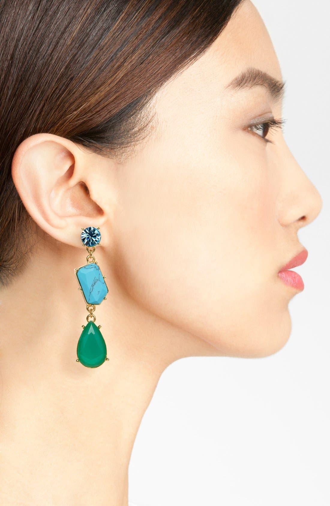 Alternate Image 2  - kate spade new york 'crystal fiesta' linear stone earrings