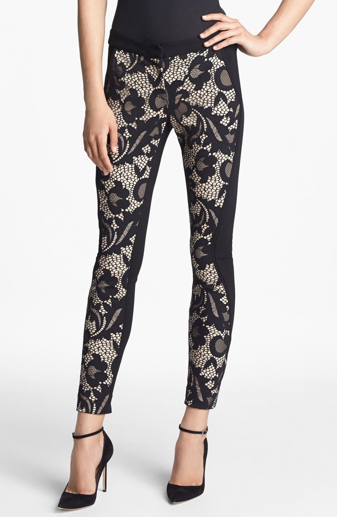 Alternate Image 1 Selected - Diane von Furstenberg 'Harmony' Abstract Lace Pants
