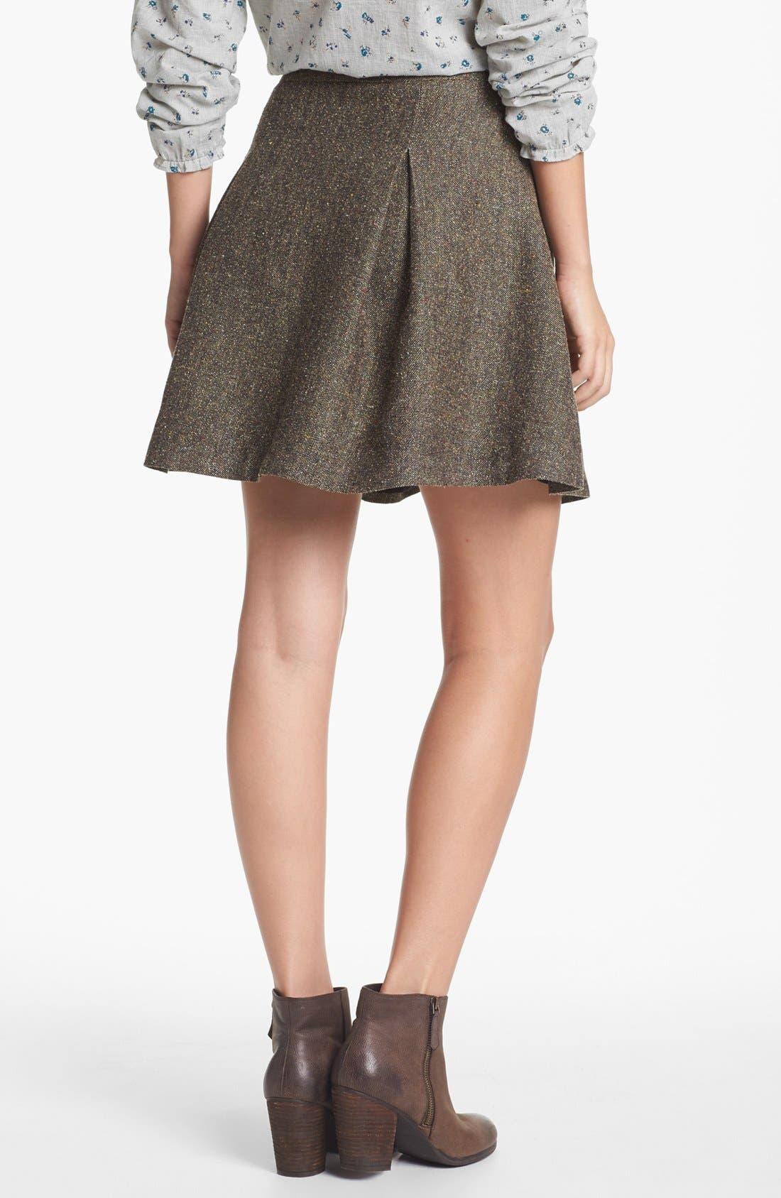 Alternate Image 2  - Hinge® Metallic Tweed Skater Skirt