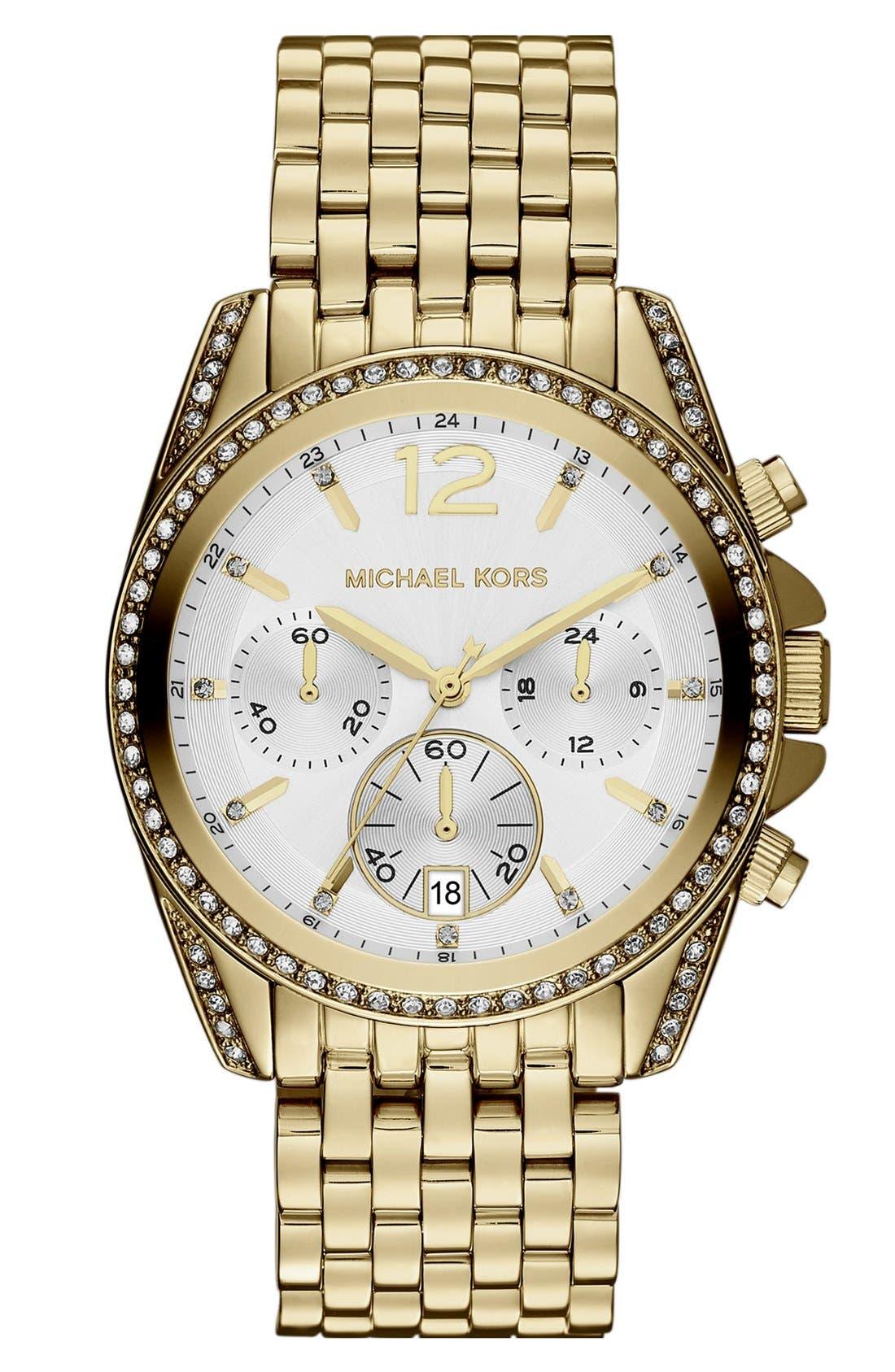 Main Image - Michael Kors 'Pressley' Chronograph Bracelet Watch, 39mm