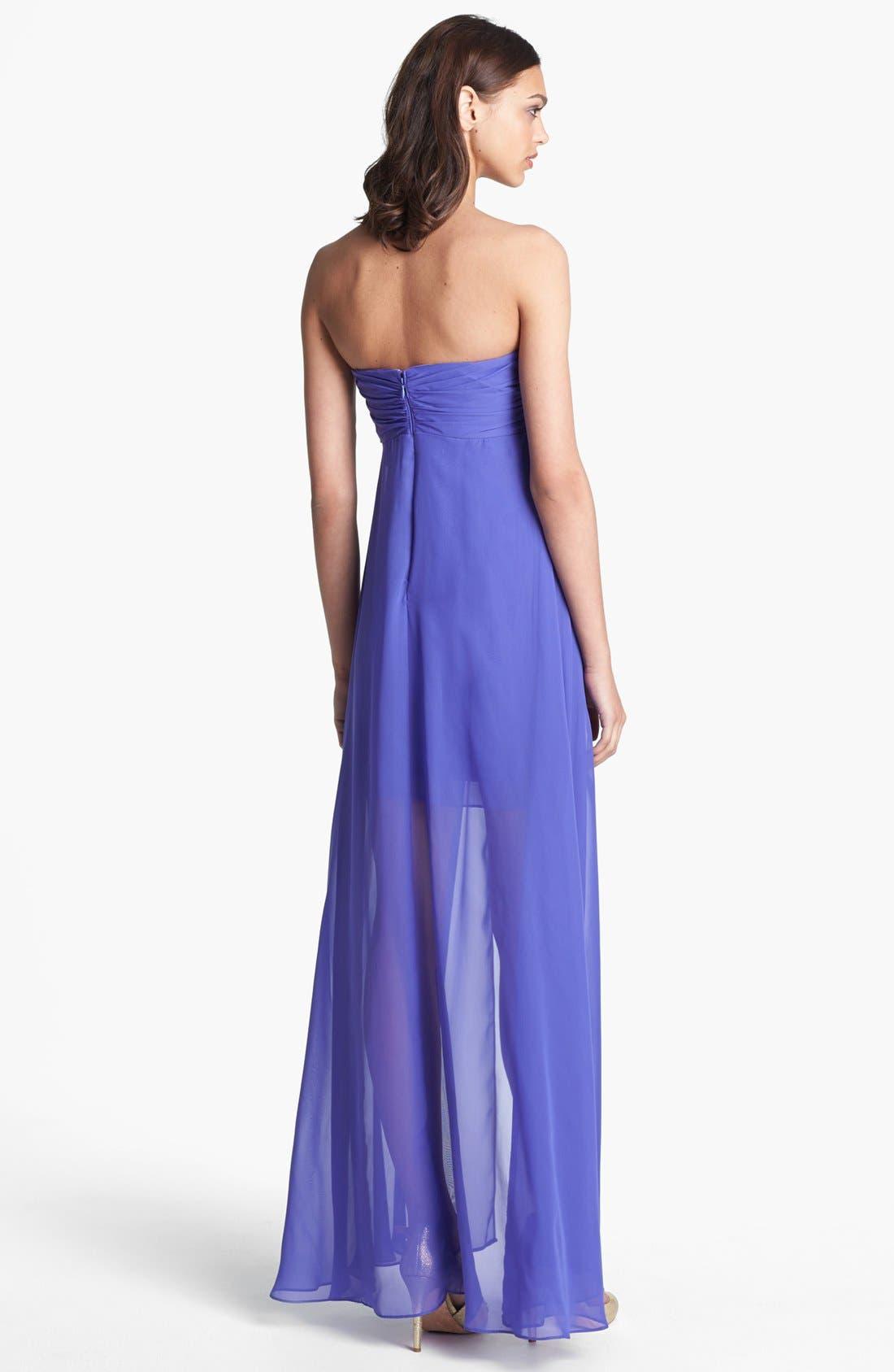 Alternate Image 2  - Hailey by Adrianna Papell Flyaway Chiffon Dress