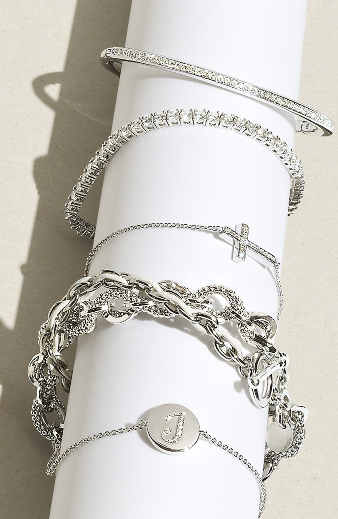 Alternate Image 3  - Cara Link & Leather Double Wrap Bracelet