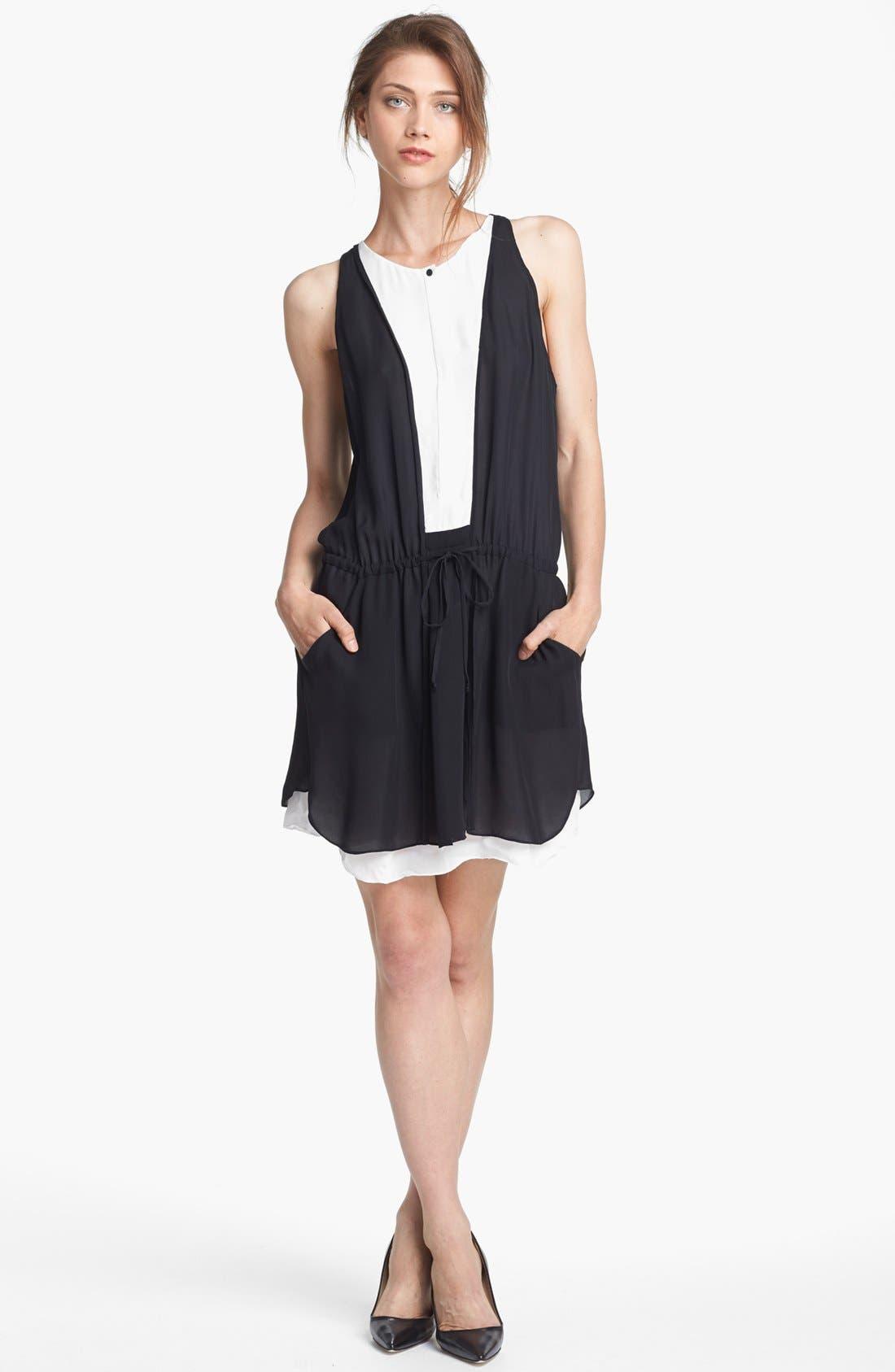 Main Image - A.L.C. 'Solange' Two Tone Dress