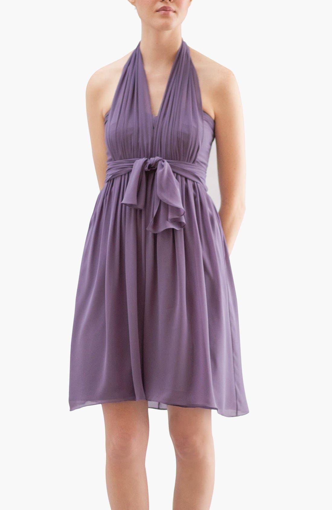 Alternate Image 5  - Jenny Yoo 'Keira' Convertible Dot Chiffon Fit & Flare Dress