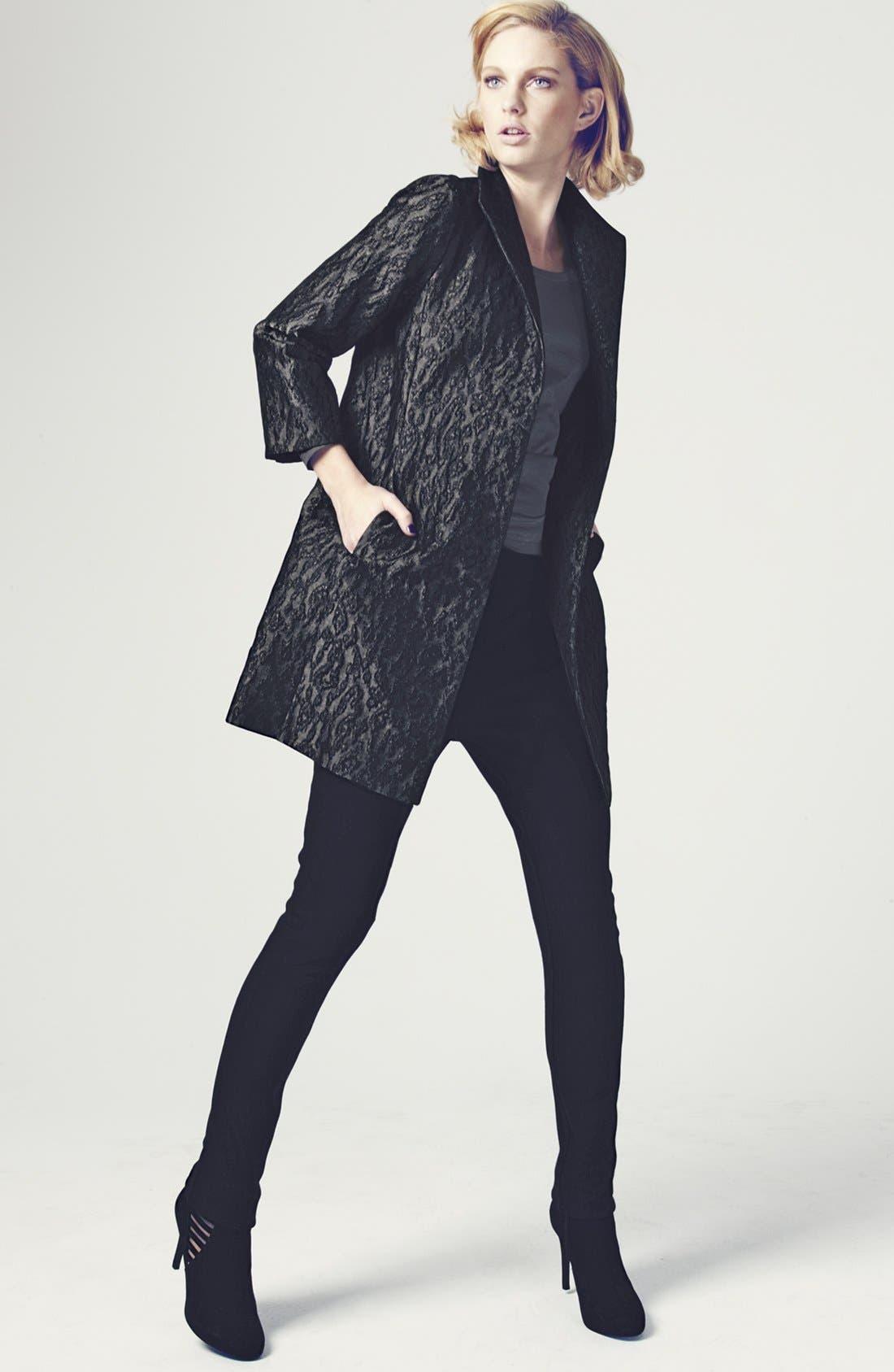 Alternate Image 5  - Eileen Fisher 'Ikat Embers' Jacquard Jacket