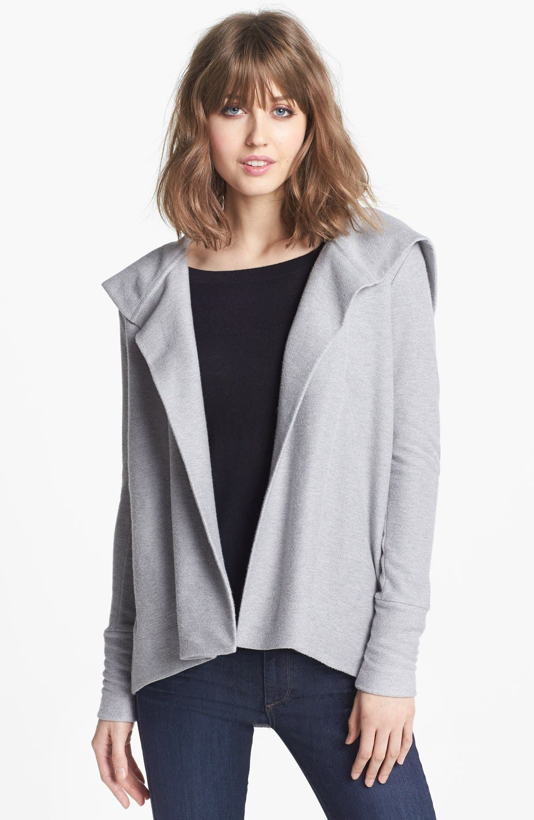 Alternate Image 1 Selected - James Perse Boxy Draped Hoodie
