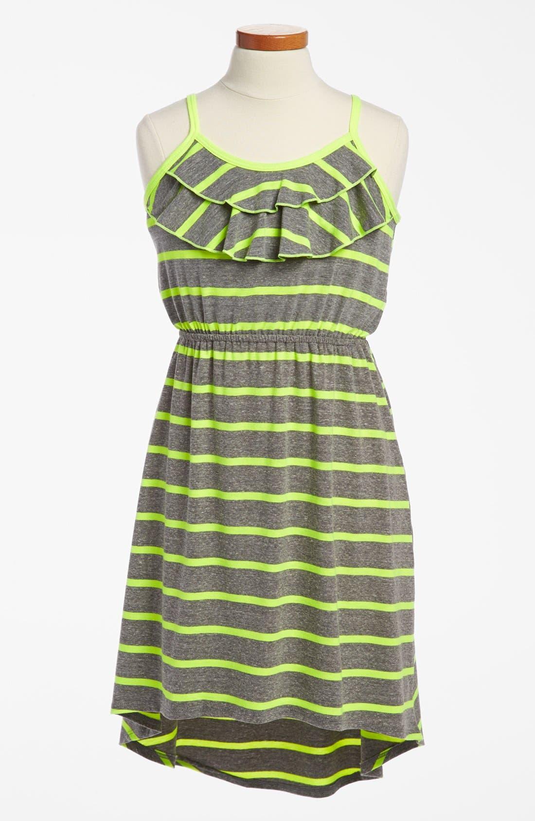 Alternate Image 1 Selected - Soprano 'Deana' High/Low Dress (Big Girls)