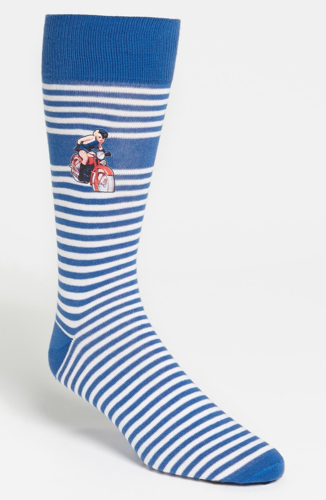 Alternate Image 1 Selected - Lorenzo Uomo 'Heat Transfer' Socks